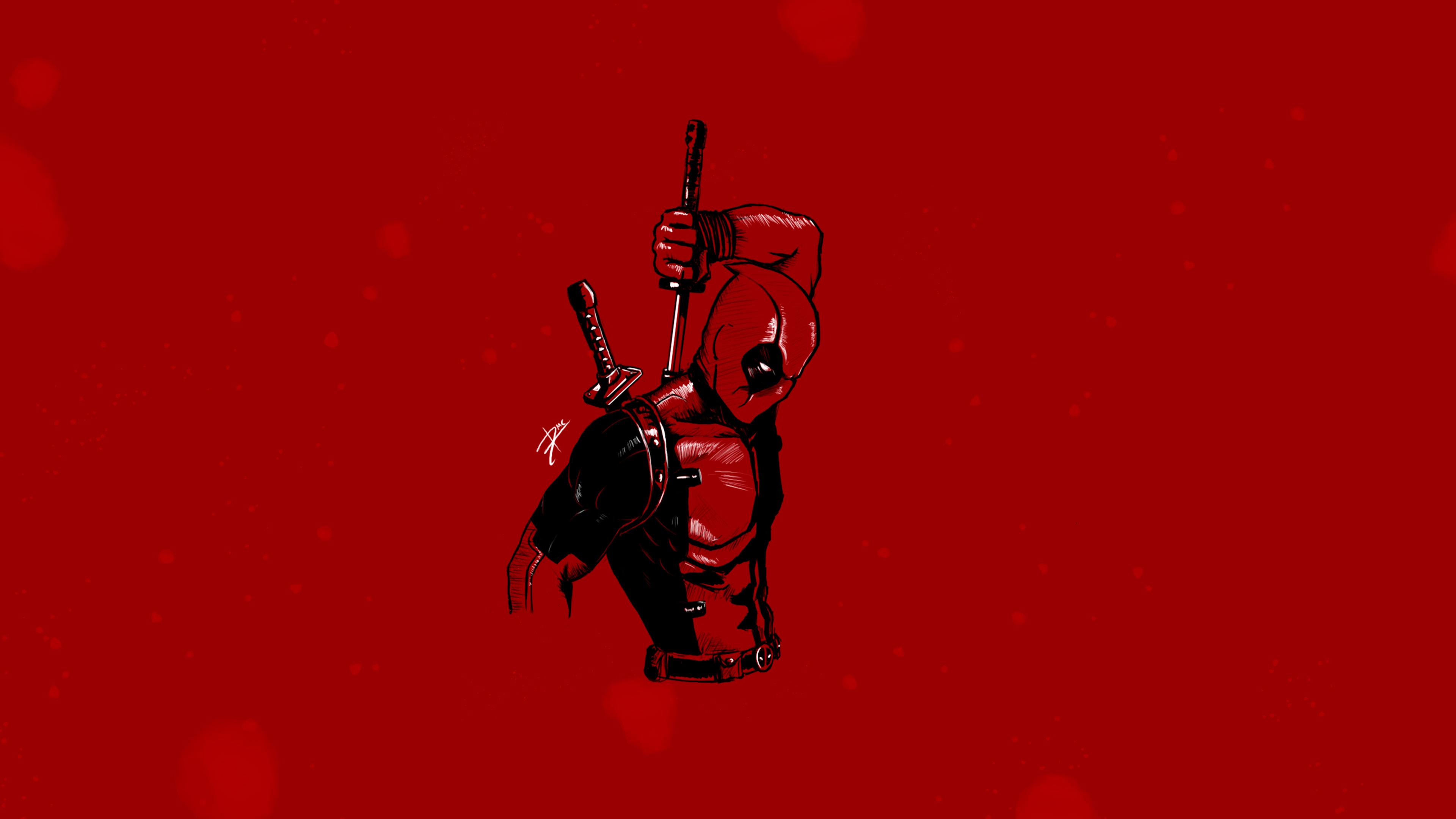 Deadpool Minimalist 4k Hd Superheroes 4k Wallpapers Images