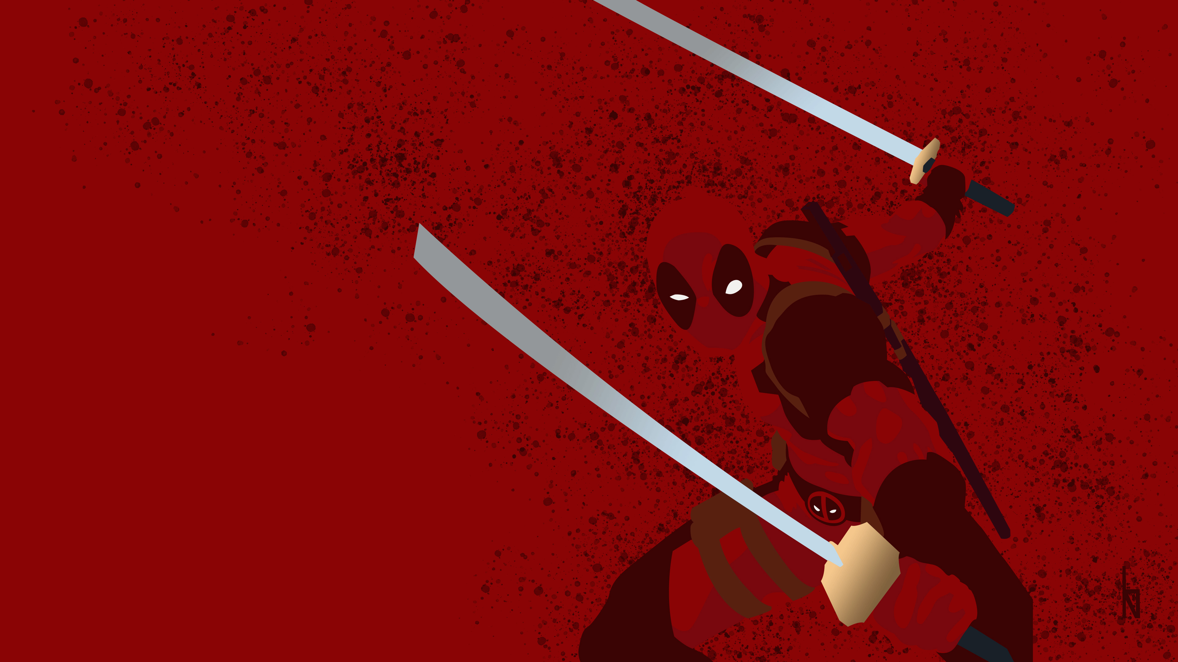 Deadpool Minimalist Background 4k Hd Superheroes 4k Wallpapers