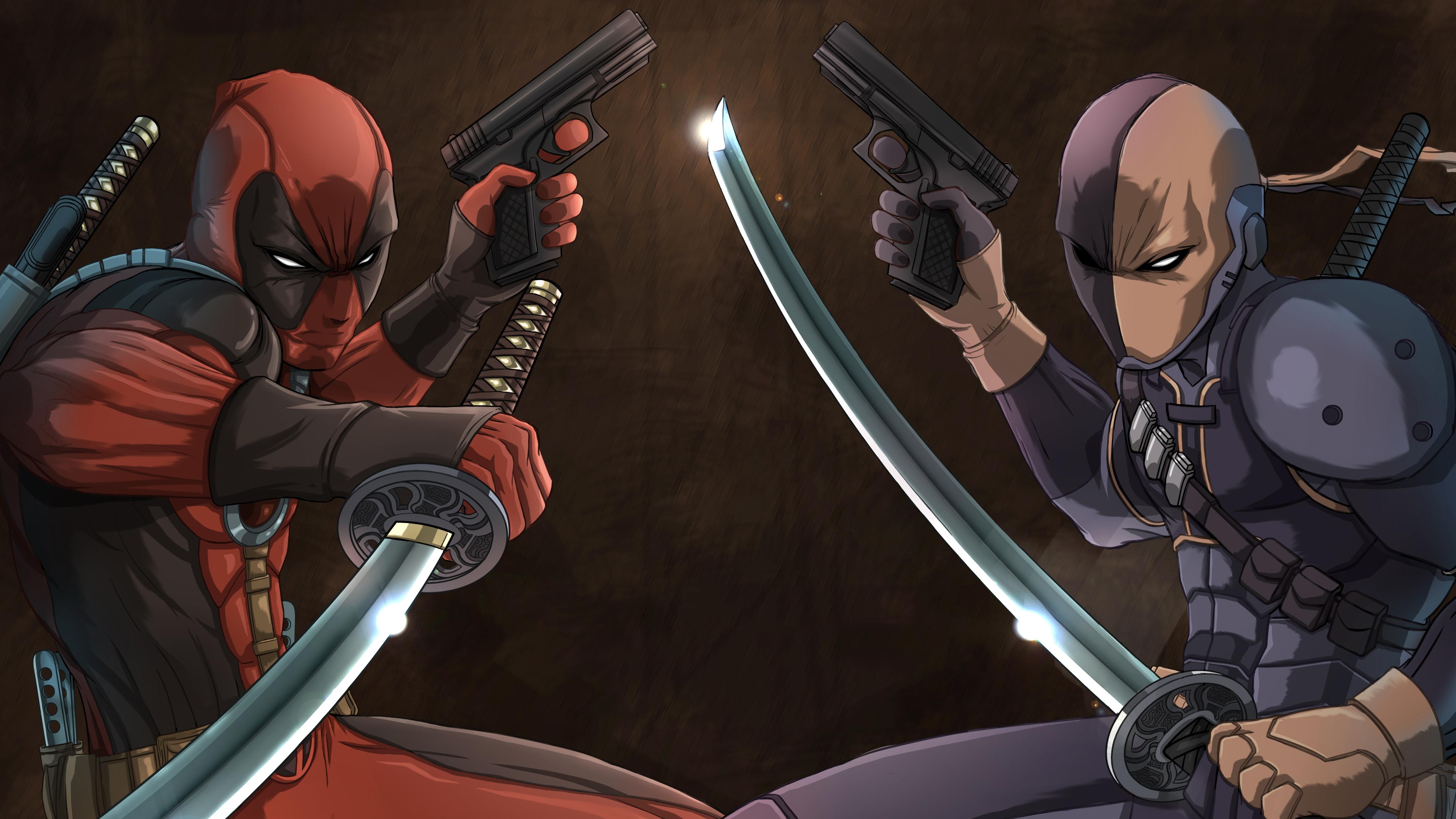 Deadpool Vs Deathstroke 4k Hd Superheroes 4k Wallpapers Images