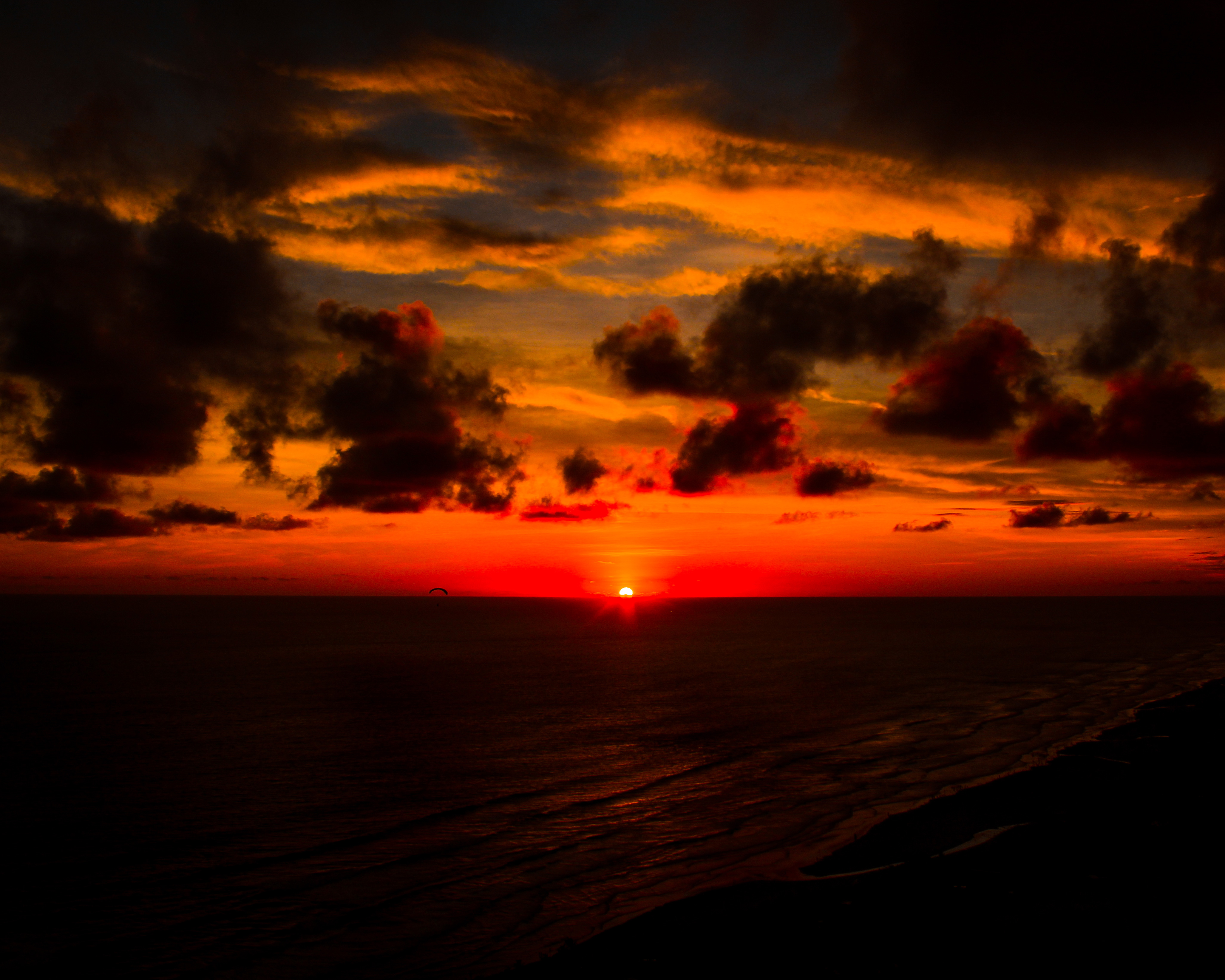 Deep Red Sunset Seashore 4k Hd Nature 4k Wallpapers