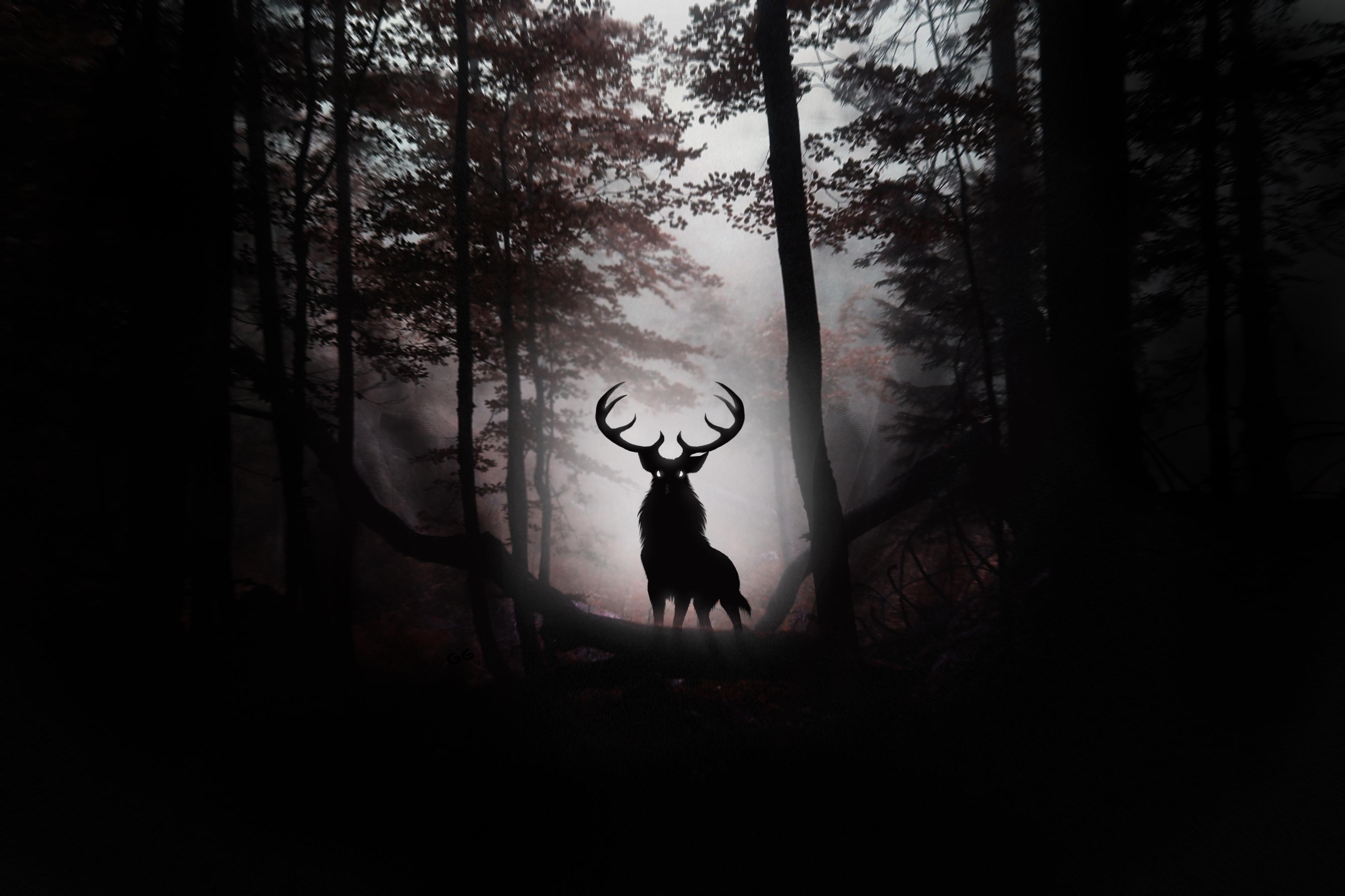 Misty Deer 4k Hd Desktop Wallpaper For 4k Ultra Hd Tv: Deer Fantasy Artwork 4k, HD Artist, 4k Wallpapers, Images
