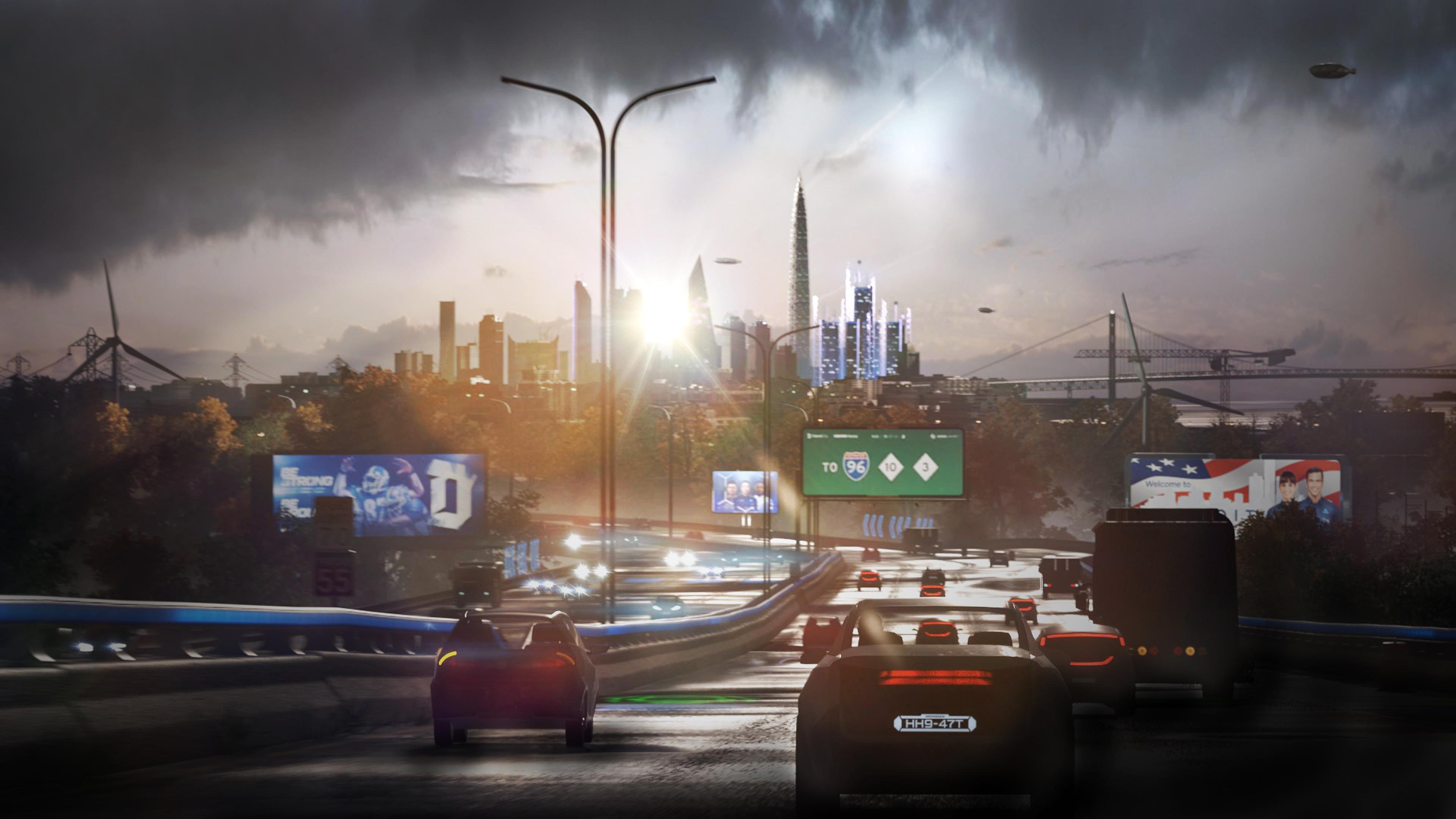 Detroit Become Human Hd Wallpaper: Detroit Become Human City View Vehicles 4k, HD Games, 4k