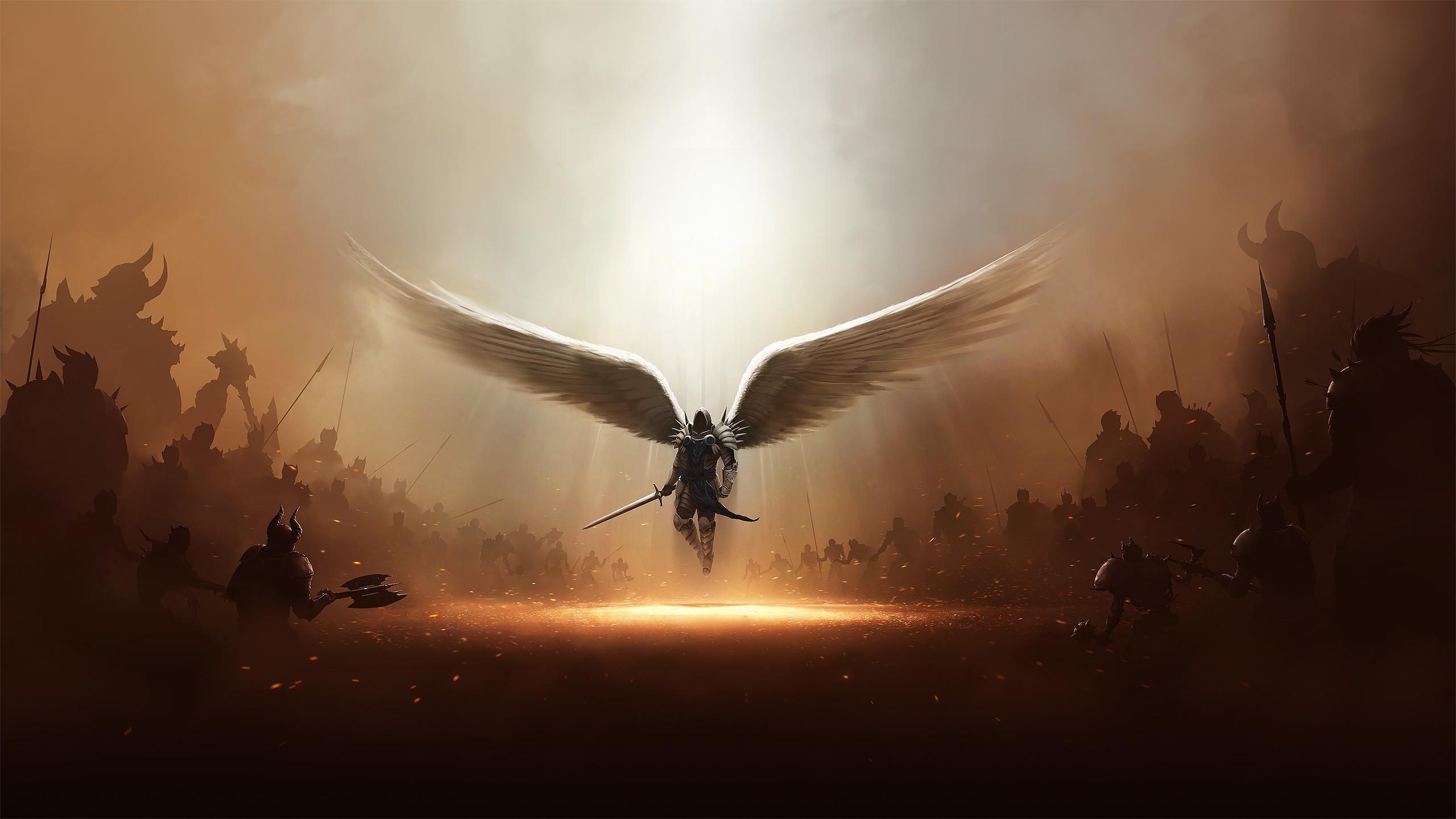 2560x1024 Diablo 3 Tyrael Archangel Of Justice 2560x1024