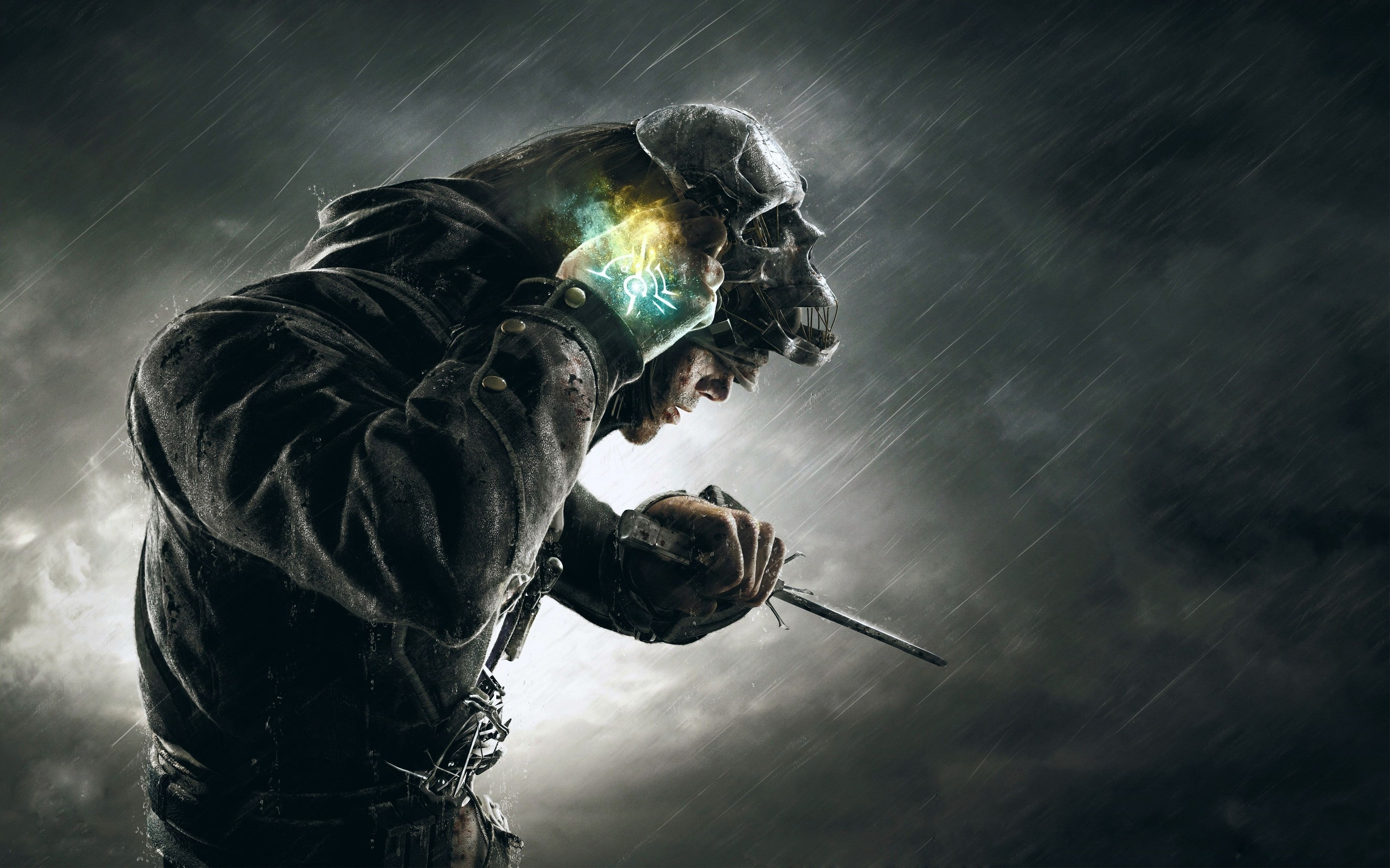 Dishonored Wallpaper 4k: 2048x1152 Dishonored Corvo Skull Mask 2048x1152 Resolution