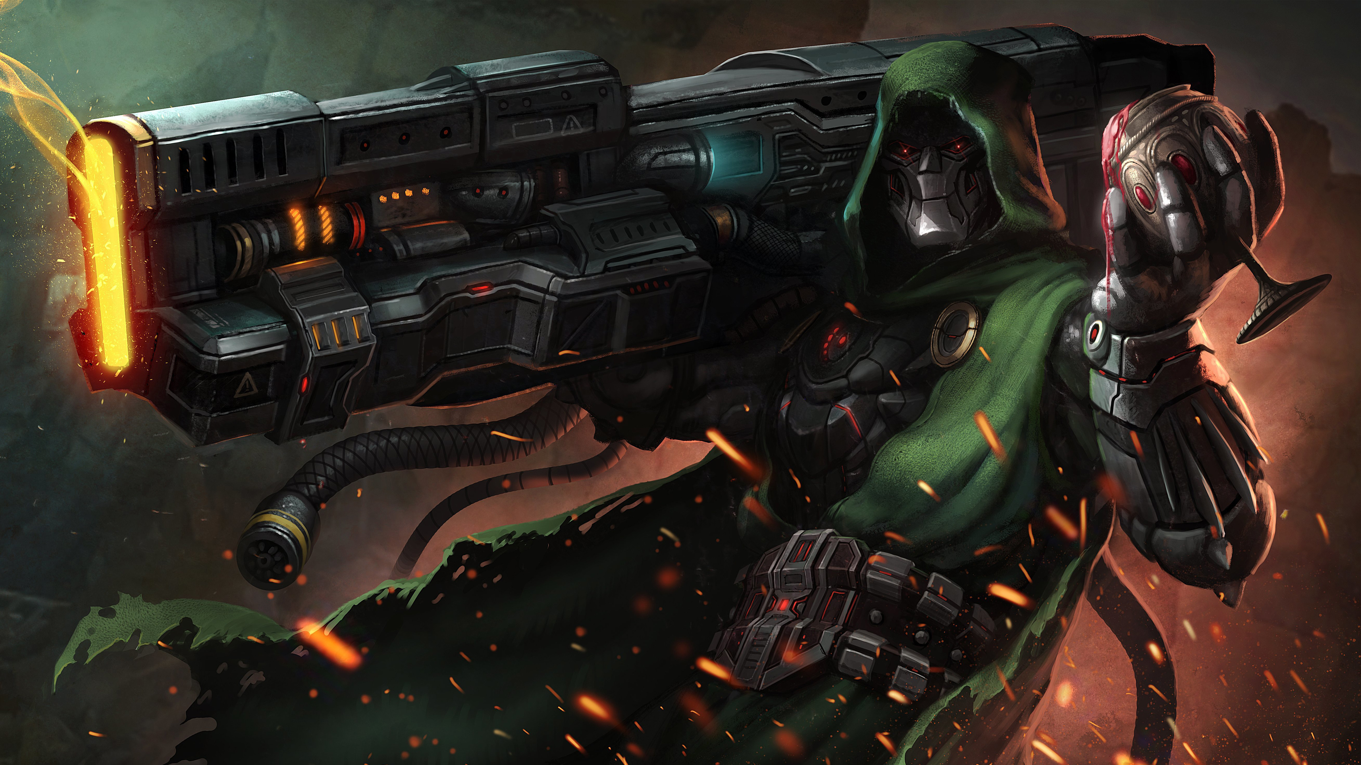 Doctor Doom Supervillain Marvel Comics 4k, HD Artist, 4k ...