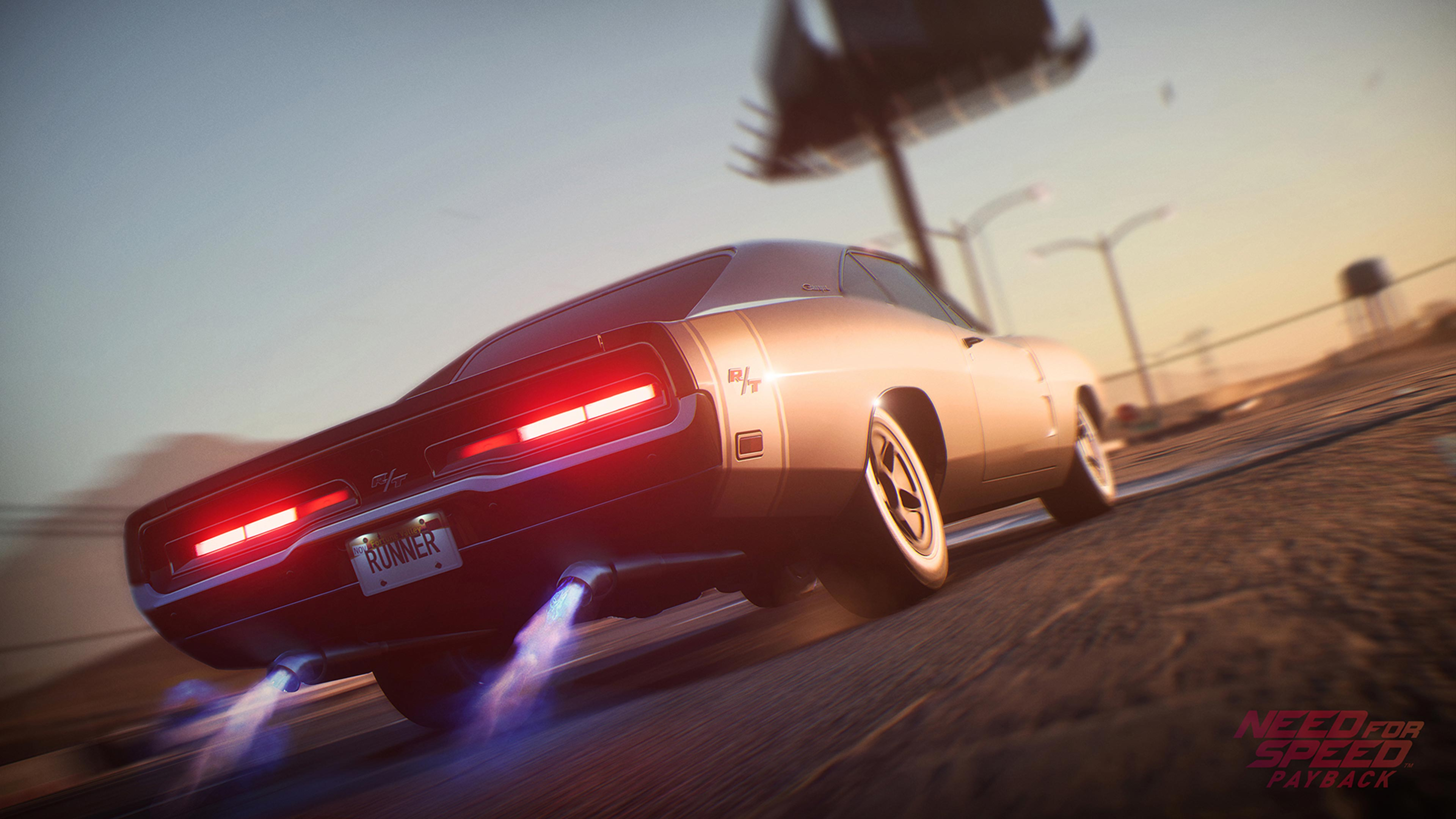 Need For Speed Payback Wallpaper: Dodge Charger Need For Speed Payback, HD Games, 4k
