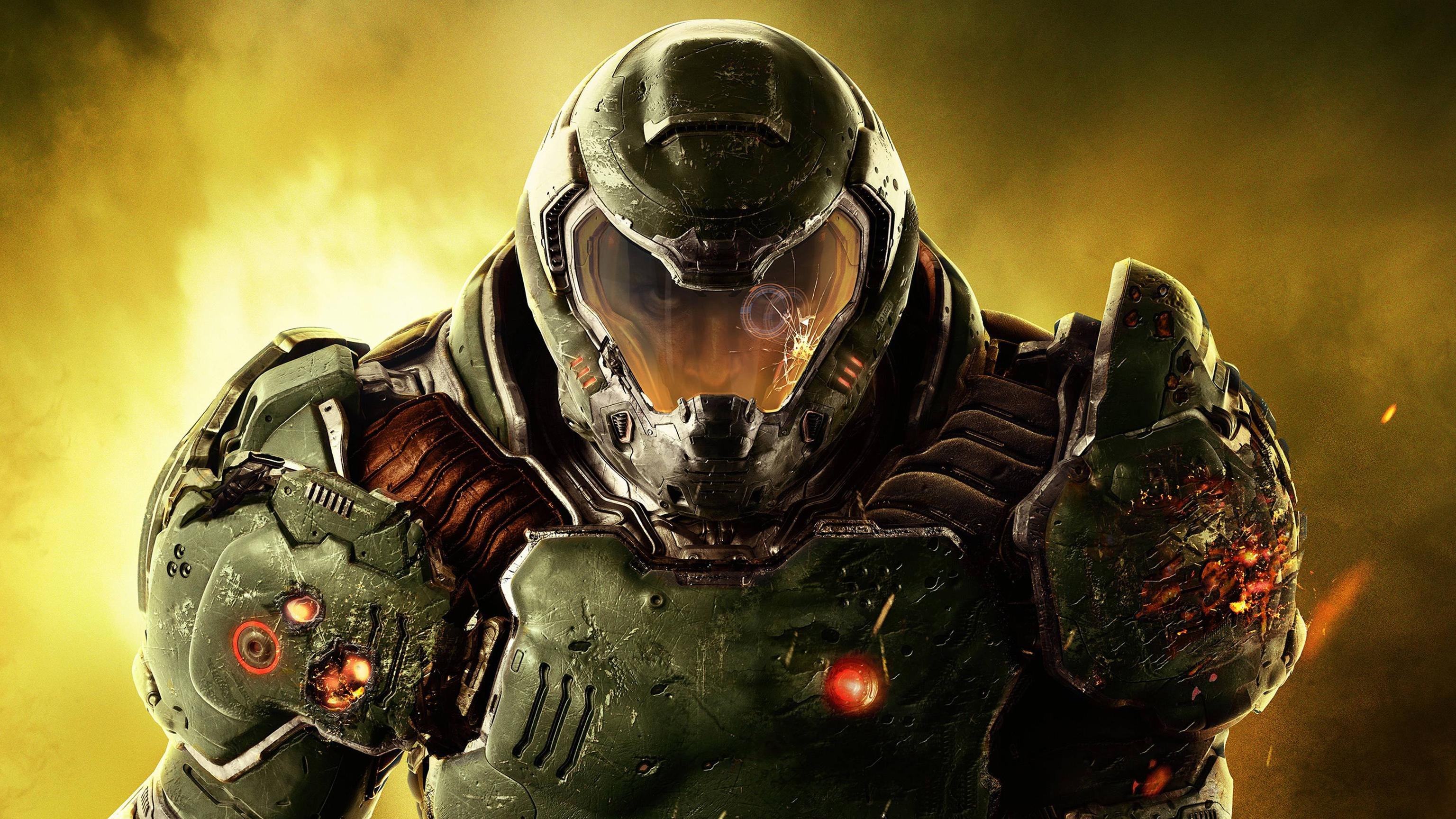 doom 4 2016 video game, hd games, 4k wallpapers, images, backgrounds