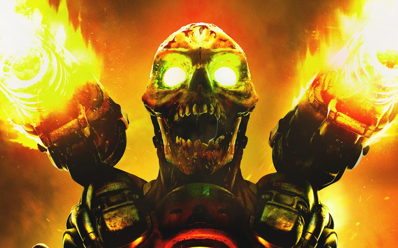 doom game skull, hd games, 4k wallpapers, images, backgrounds