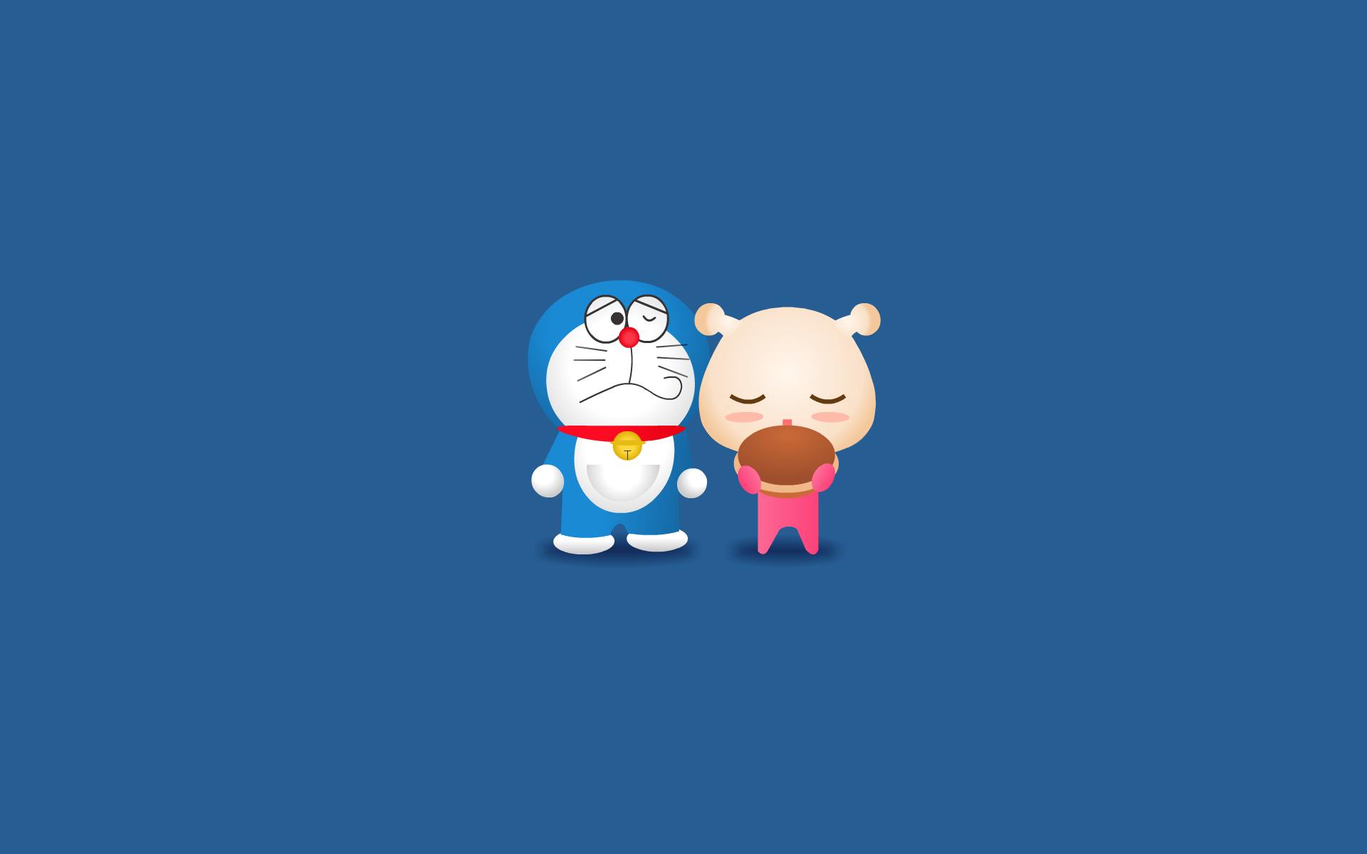 Doraemon Minimalism Hd Cartoons 4k Wallpapers Images Backgrounds