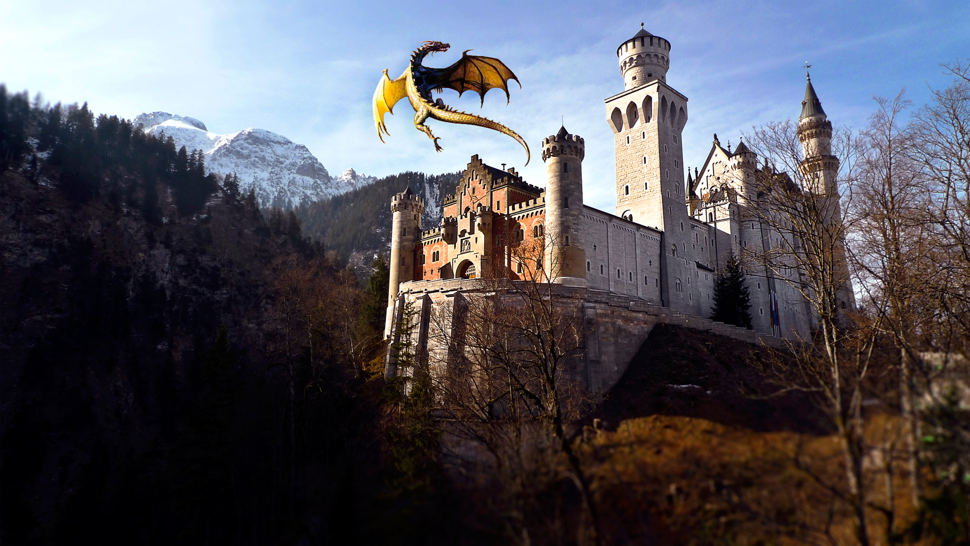 dragon castle hd graphics 4k wallpapers images backgrounds