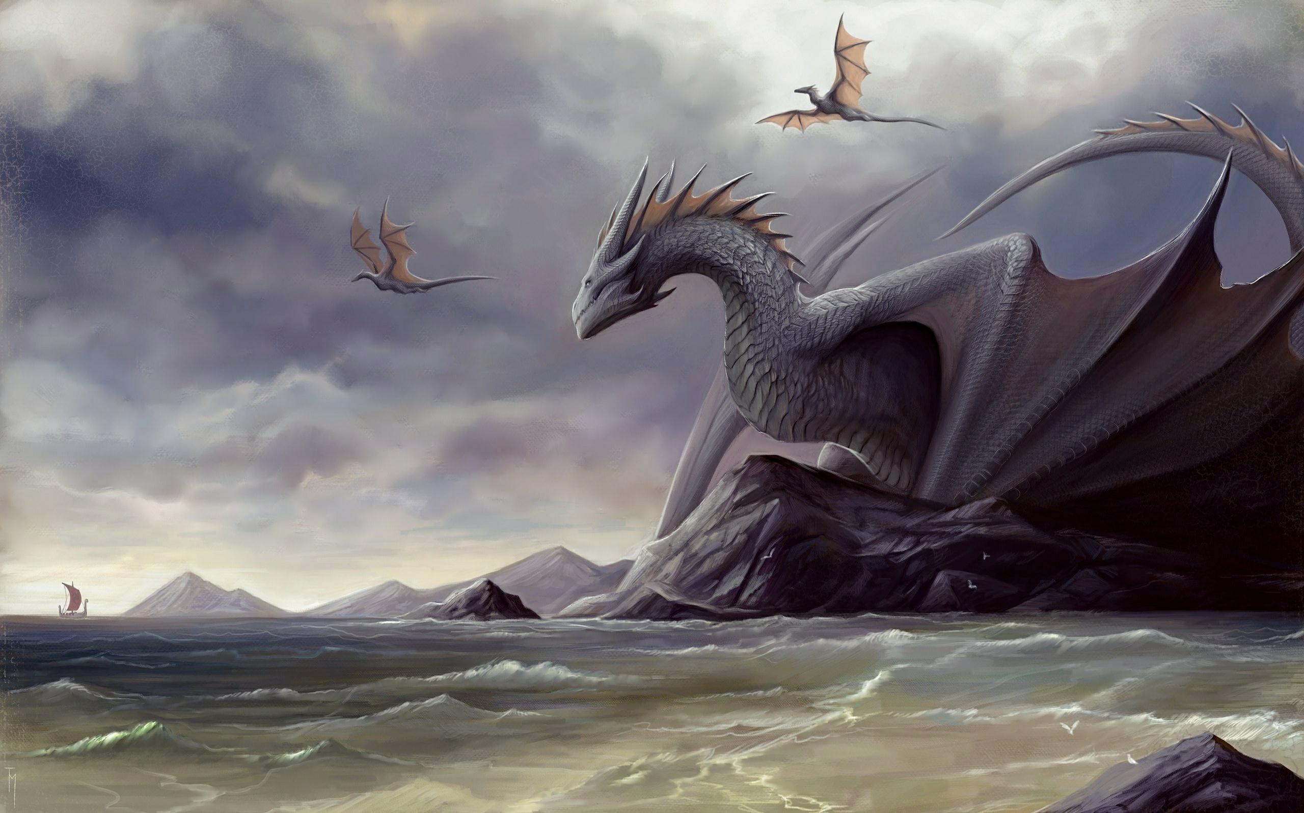 1366x768 dragon digital art fantasy 1366x768 resolution hd - Fantasy wallpaper digital art ...