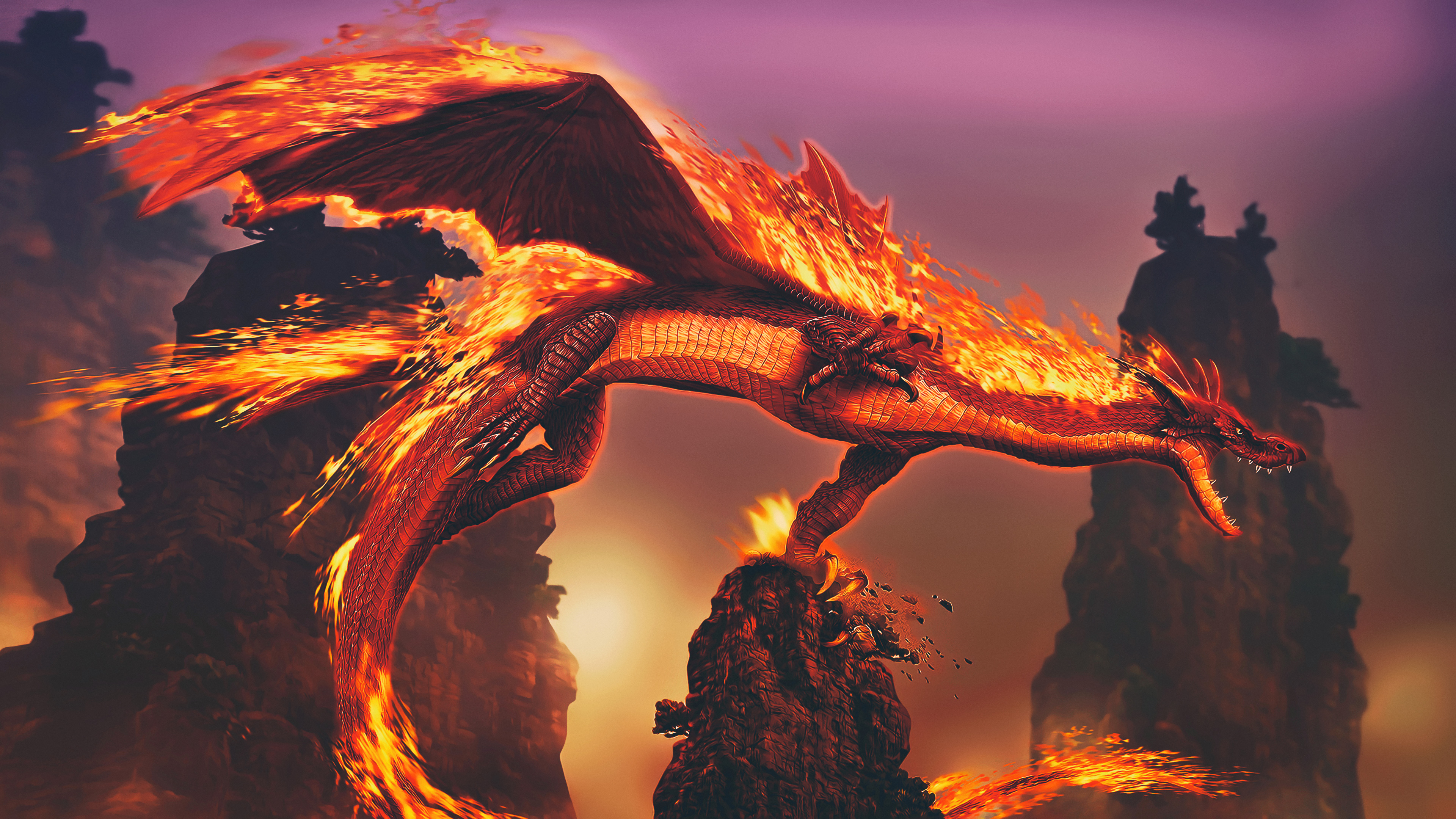 Dragon Fire 4k Hd Artist 4k Wallpapers Images Backgrounds