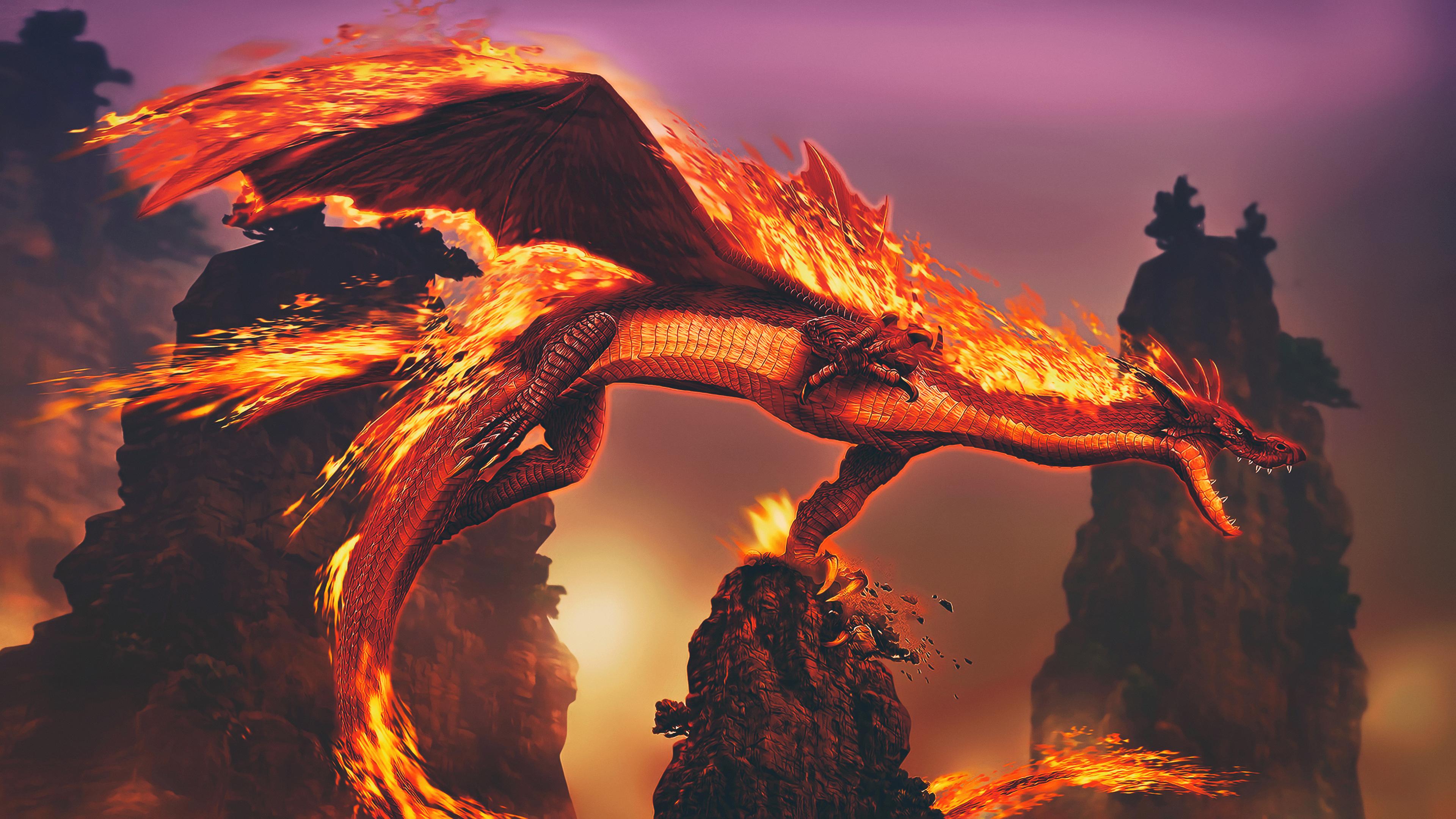 Dragon Fire 4k Hd Artist 4k Wallpapers Images