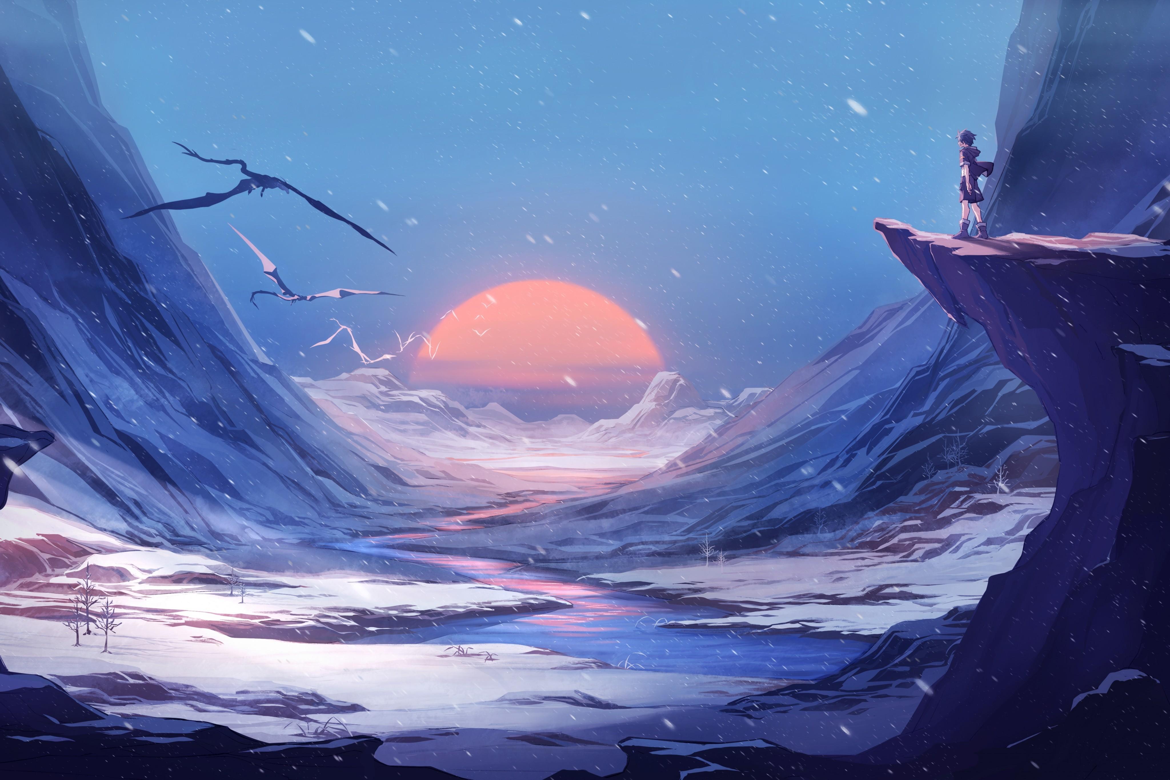 Dragon Winter Snow Anime Manga 4k, HD Anime, 4k Wallpapers ...