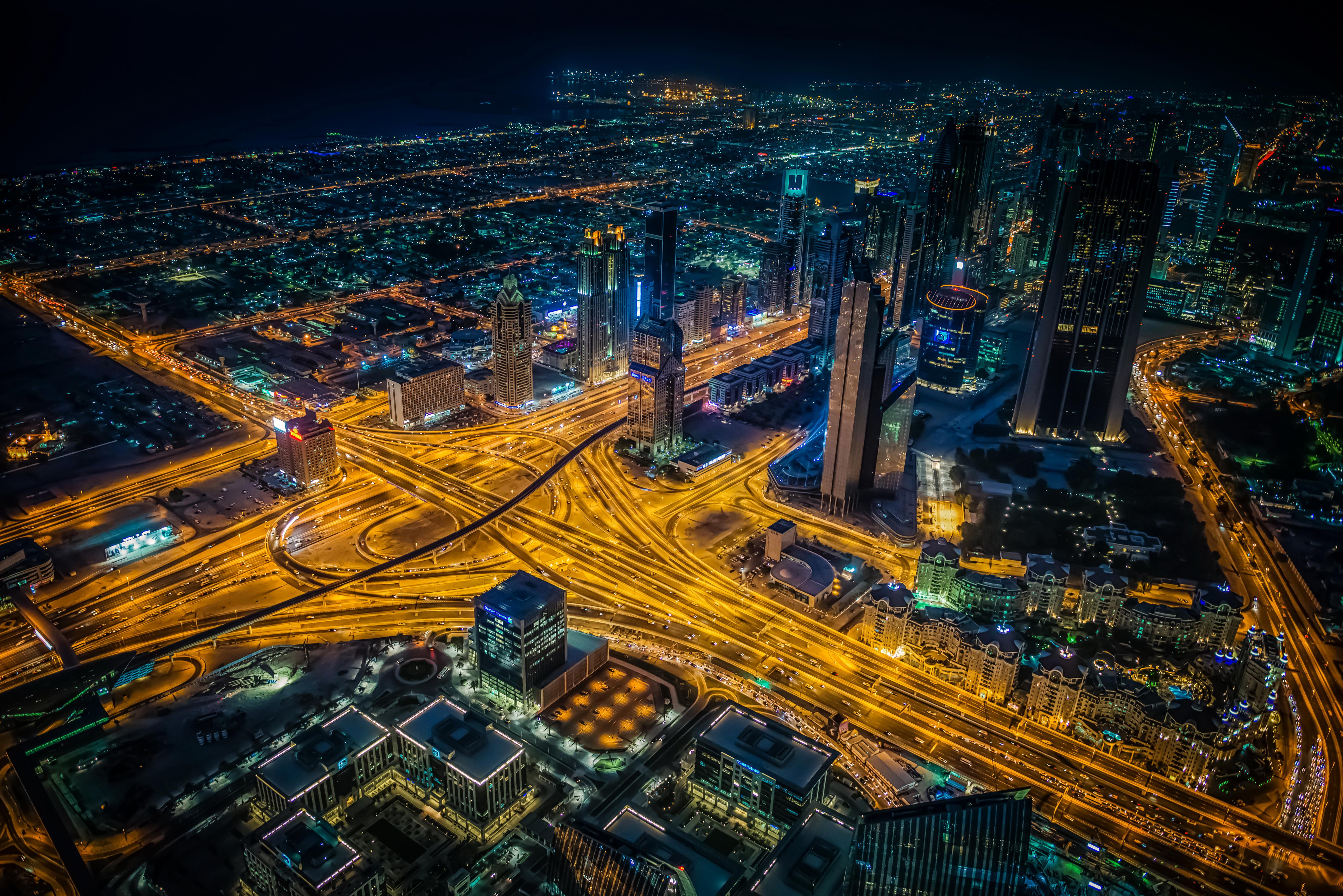 Dubai 4k Wallpaper: Dubai Building Lights Skycrappers 4k, HD World, 4k