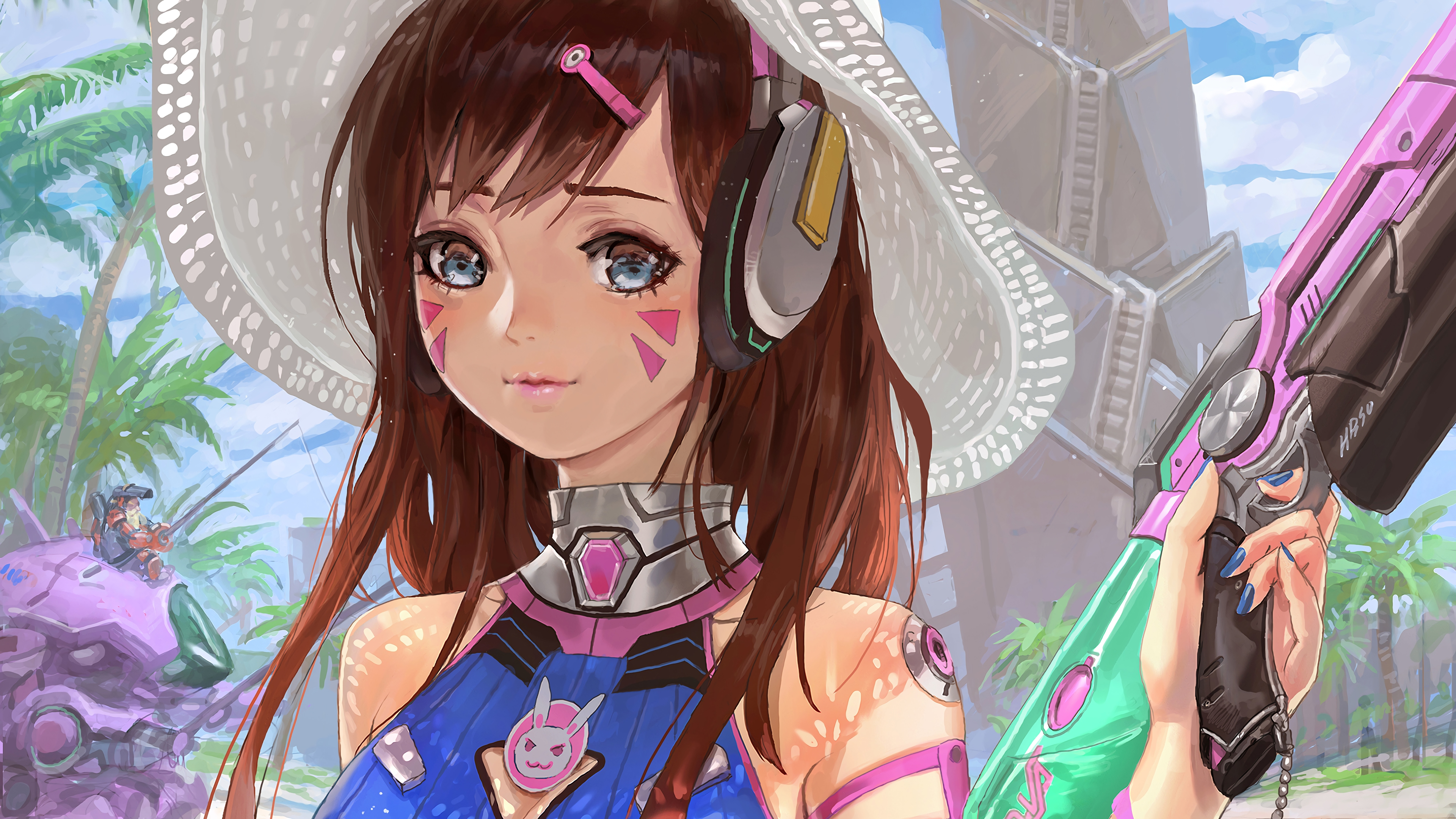 Dva 4k Overwatch Hd Games 4k Wallpapers Images Backgrounds