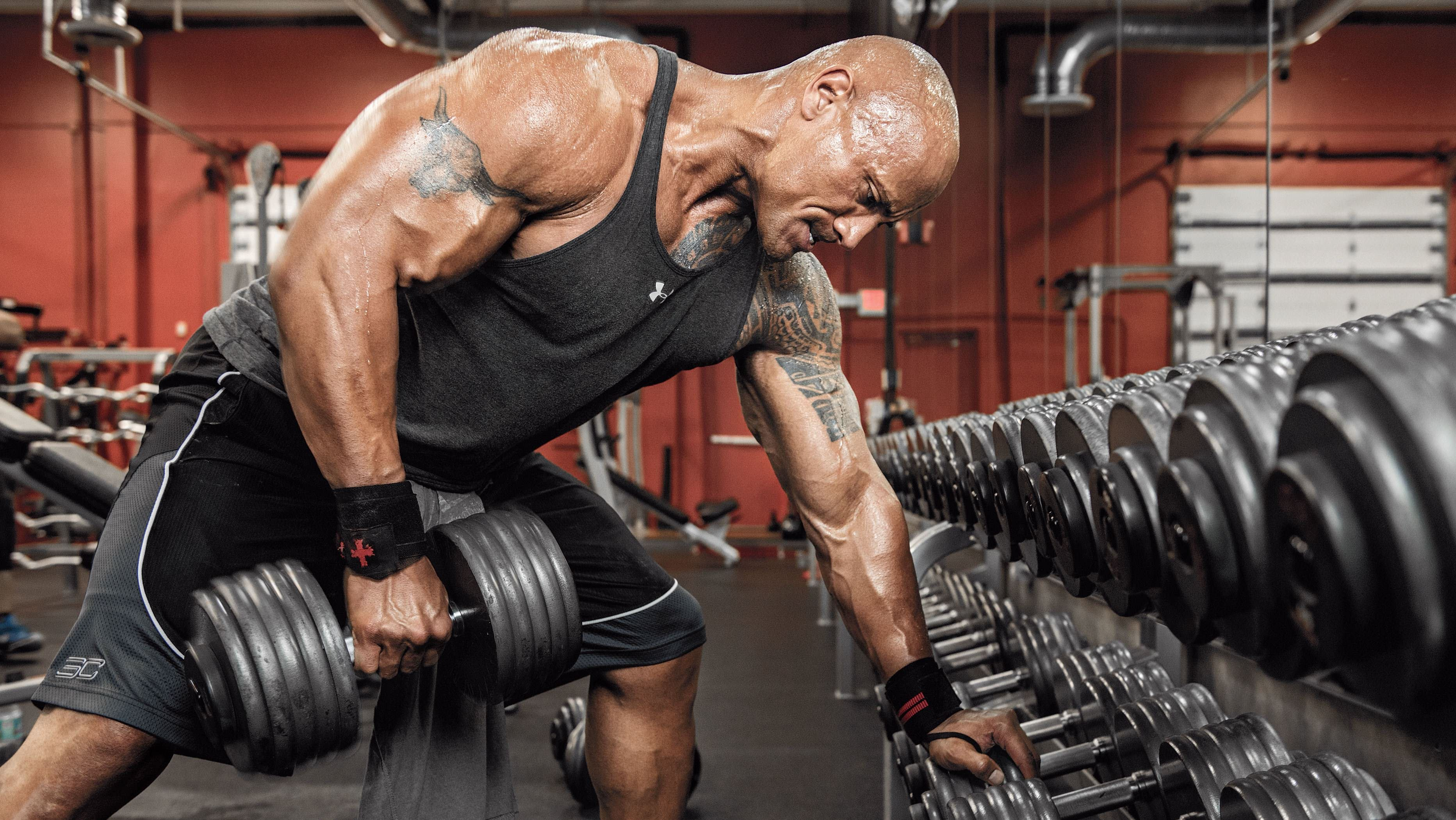 Image result for dwayne johnson workout