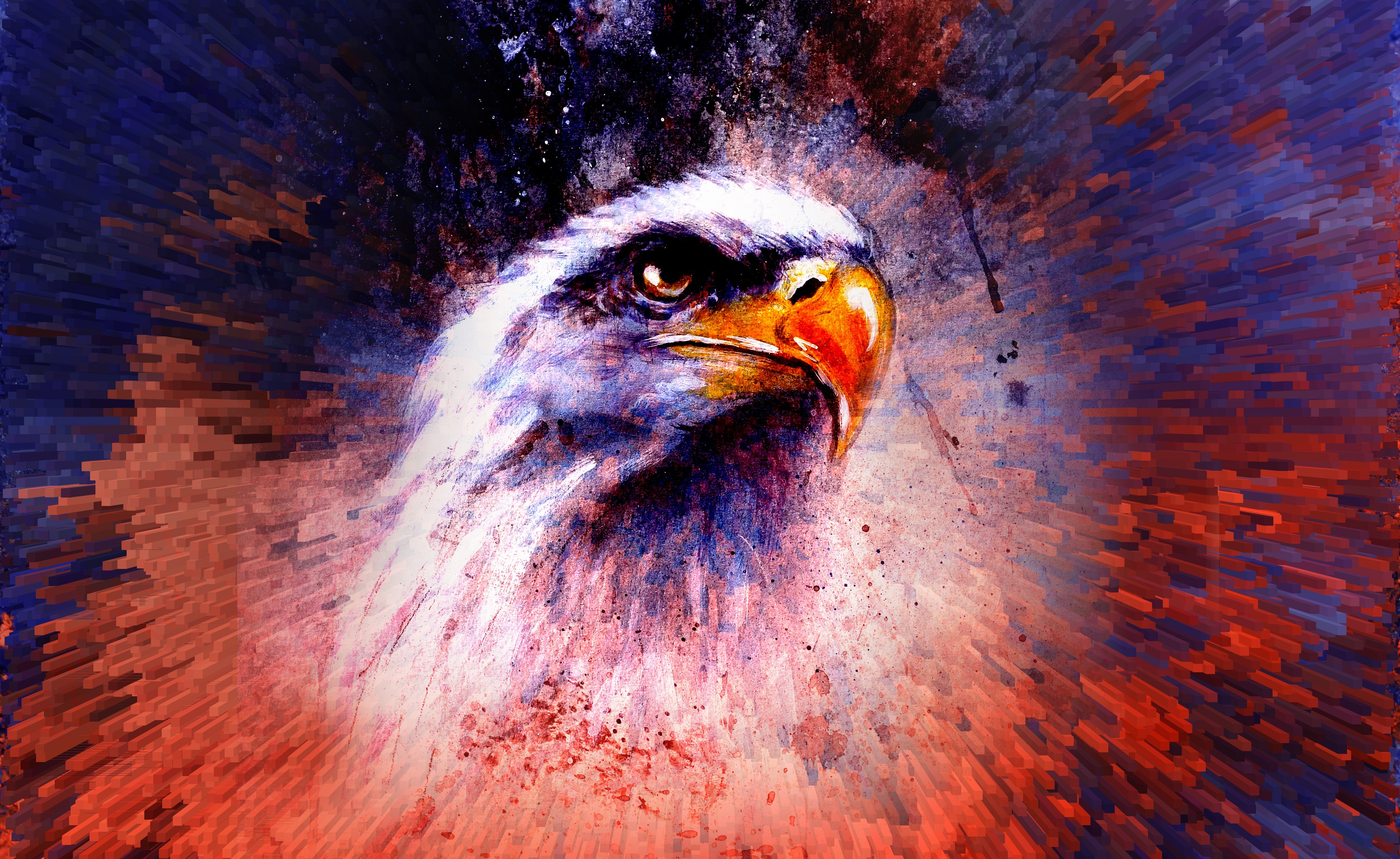 Eagle Abstract 5k, HD Artist, 4k Wallpapers, Images ...