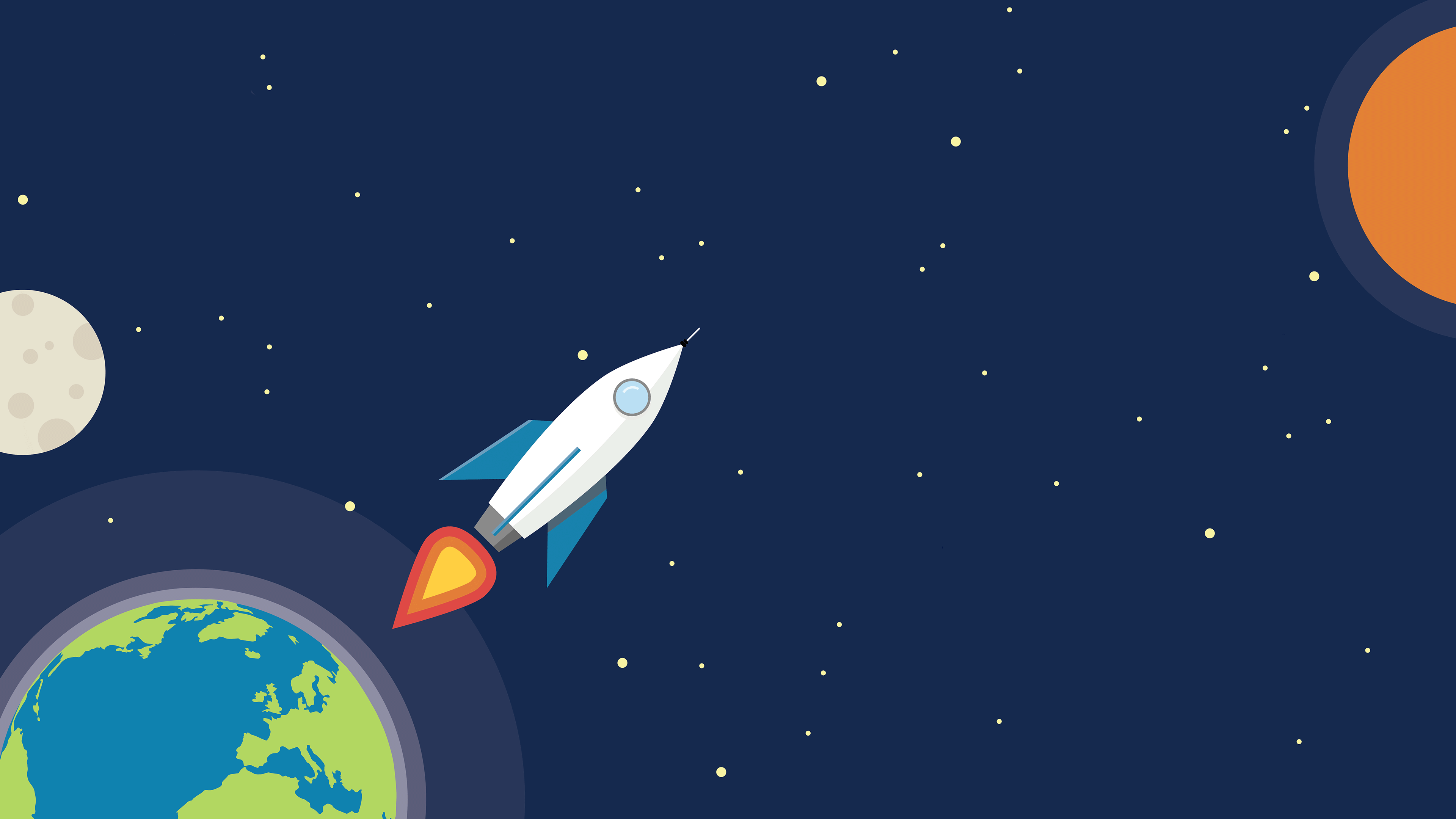Earth rocket minimalism hd artist 4k wallpapers images for Material design space