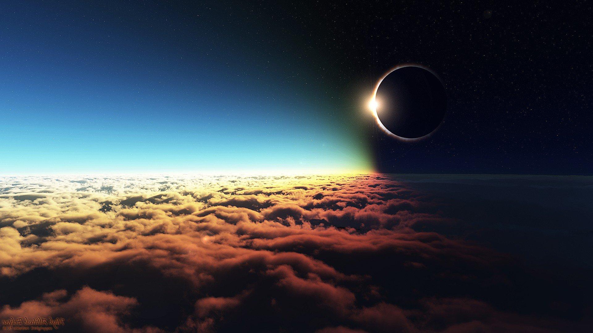 Space Universe Eclipse Hd Wallpapers Desktop: Eclipse Altitude, HD Digital Universe, 4k Wallpapers