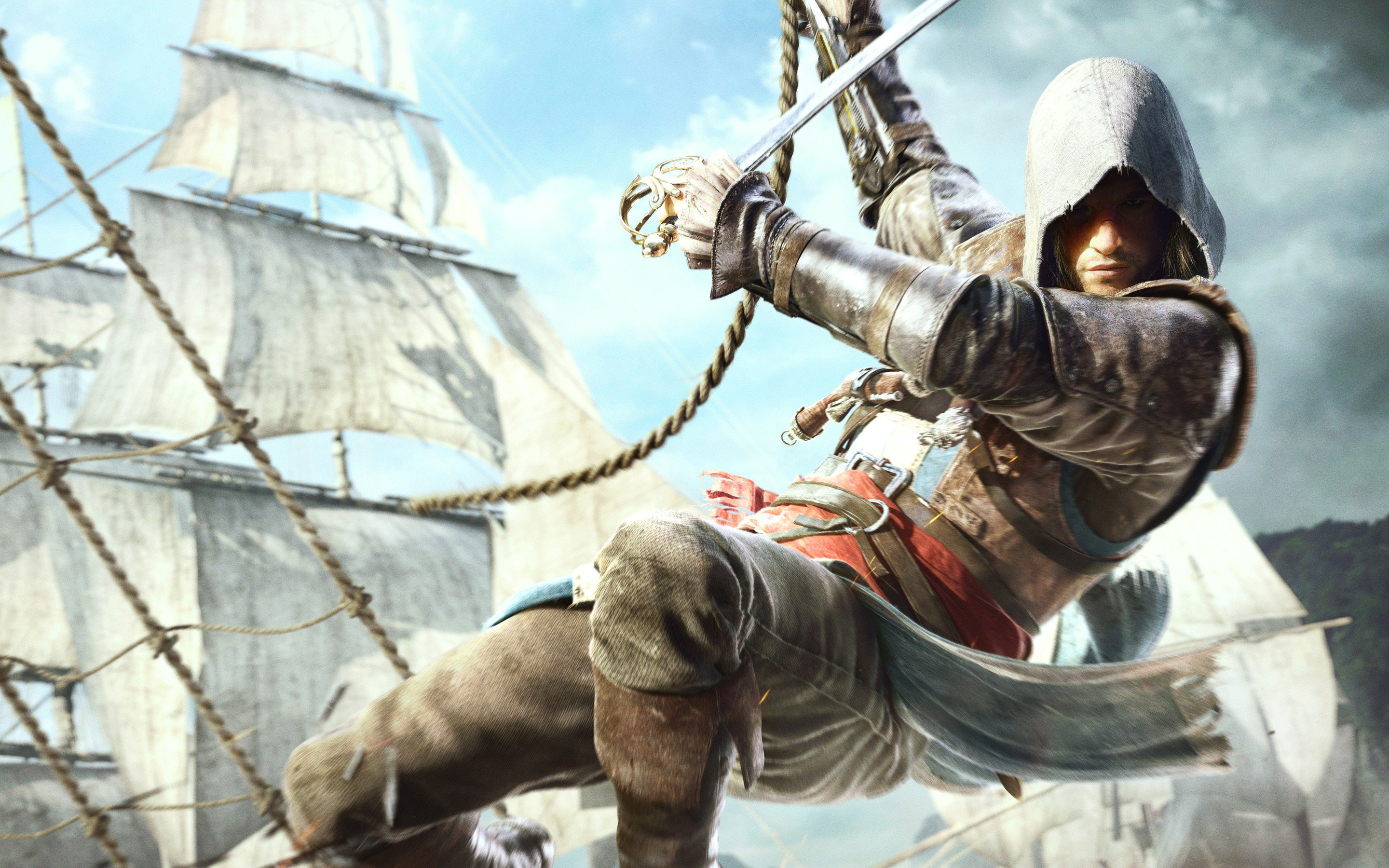 edward kenway in assassins creed 4 hd games 4k