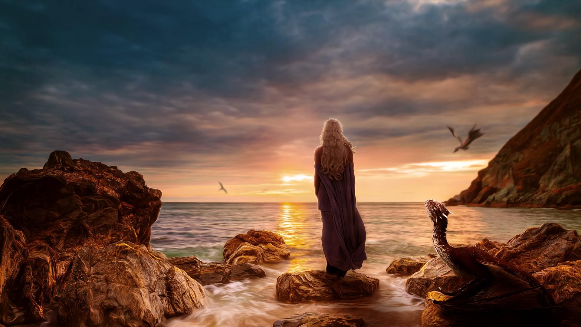 Emilia Clarke Daenerys Targayen Alone, HD Tv Shows, 4k
