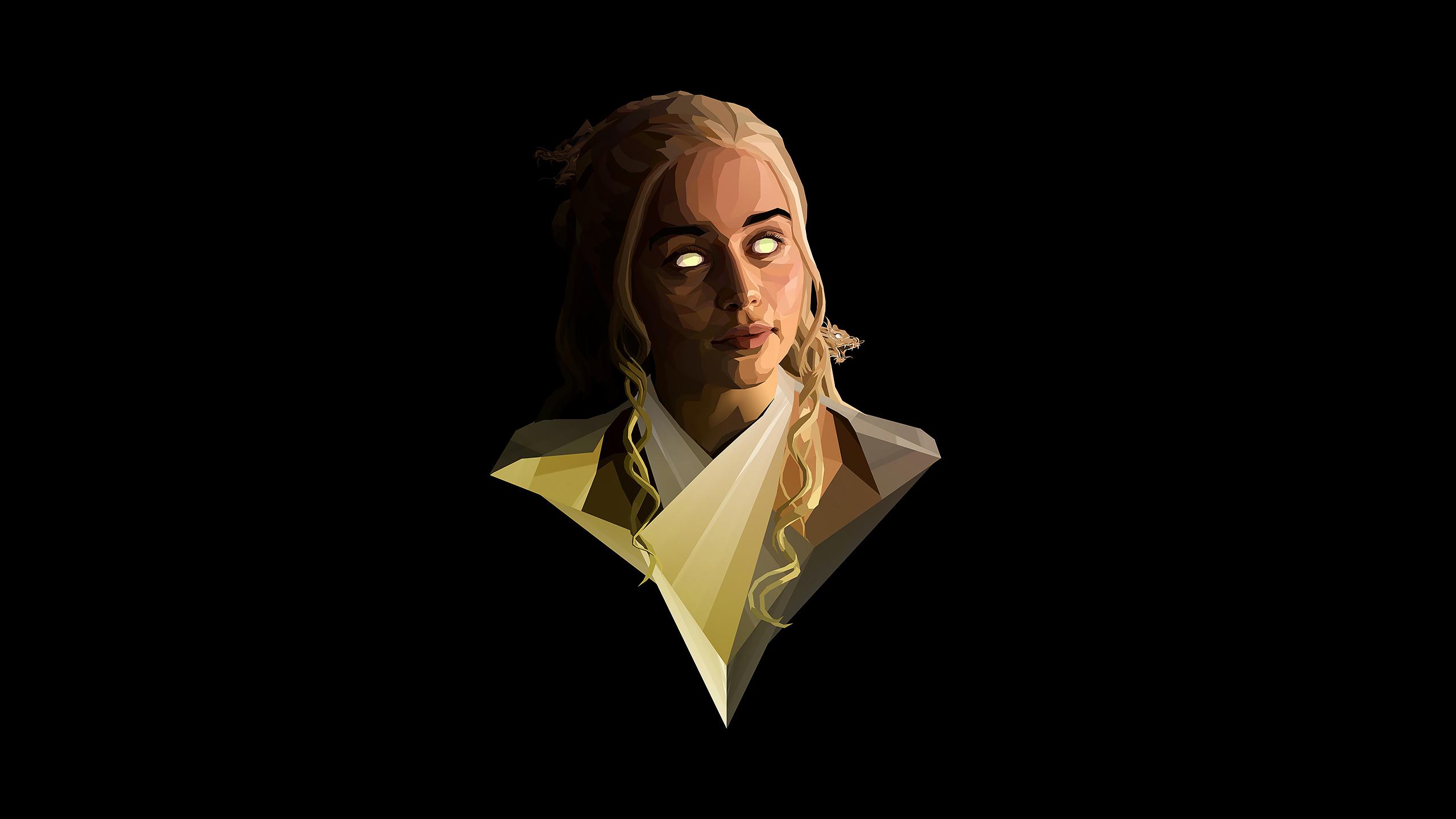 Emilia Clarke Polygon Art 4k, HD Tv Shows, 4k Wallpapers
