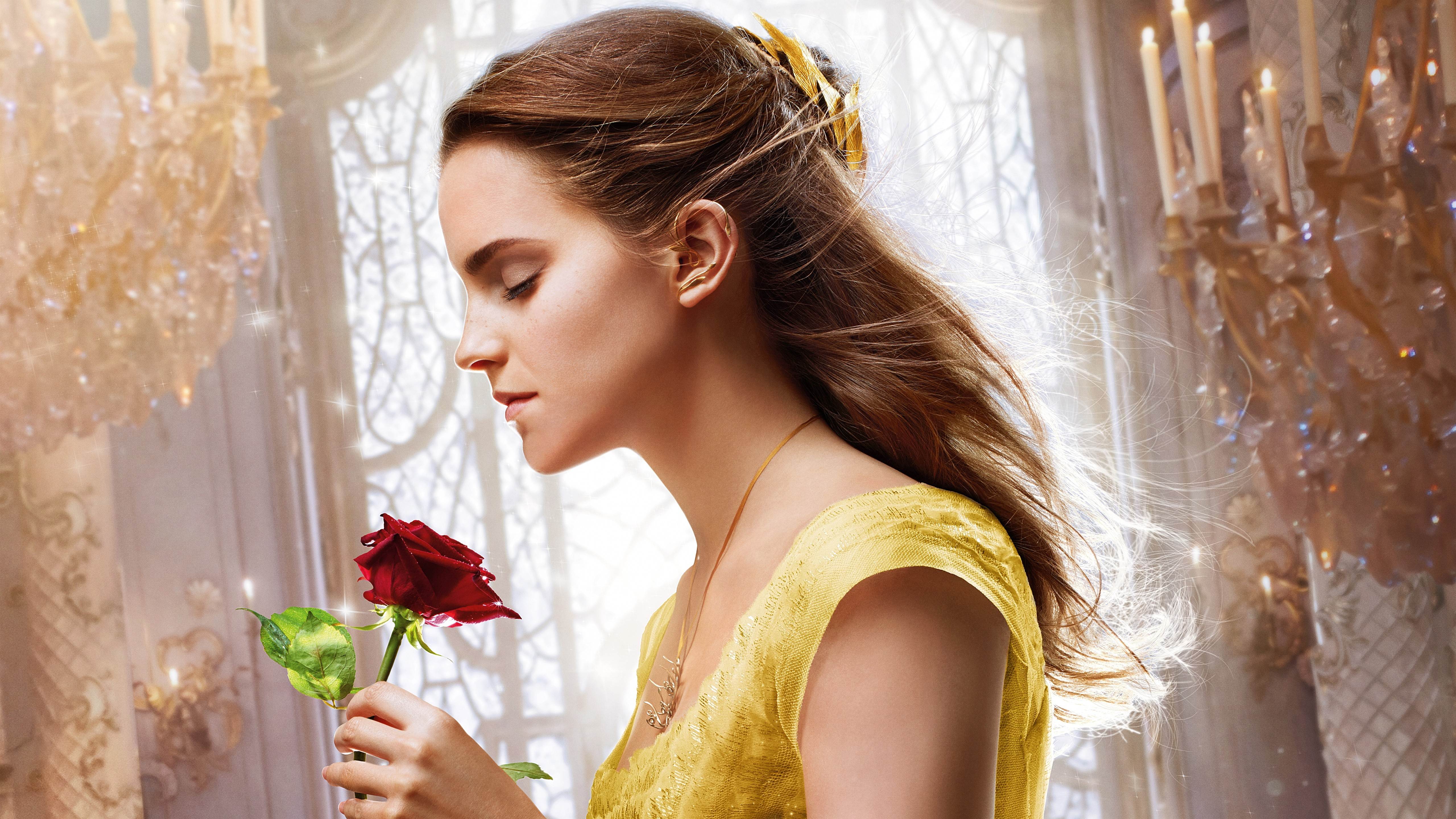 emma watson beauty and the beast 5k hd, hd movies, 4k wallpapers