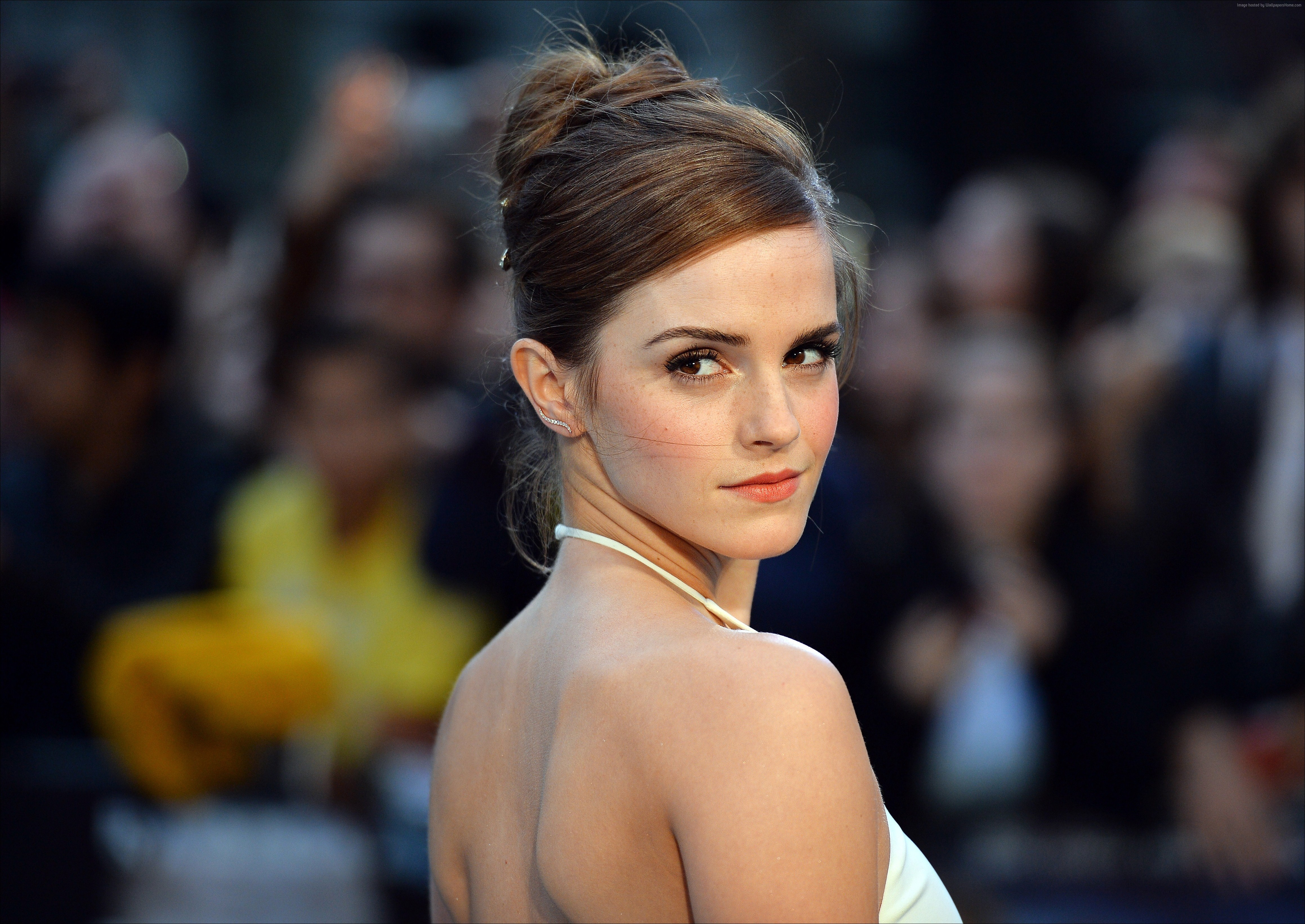 Emma Watson In White Dress