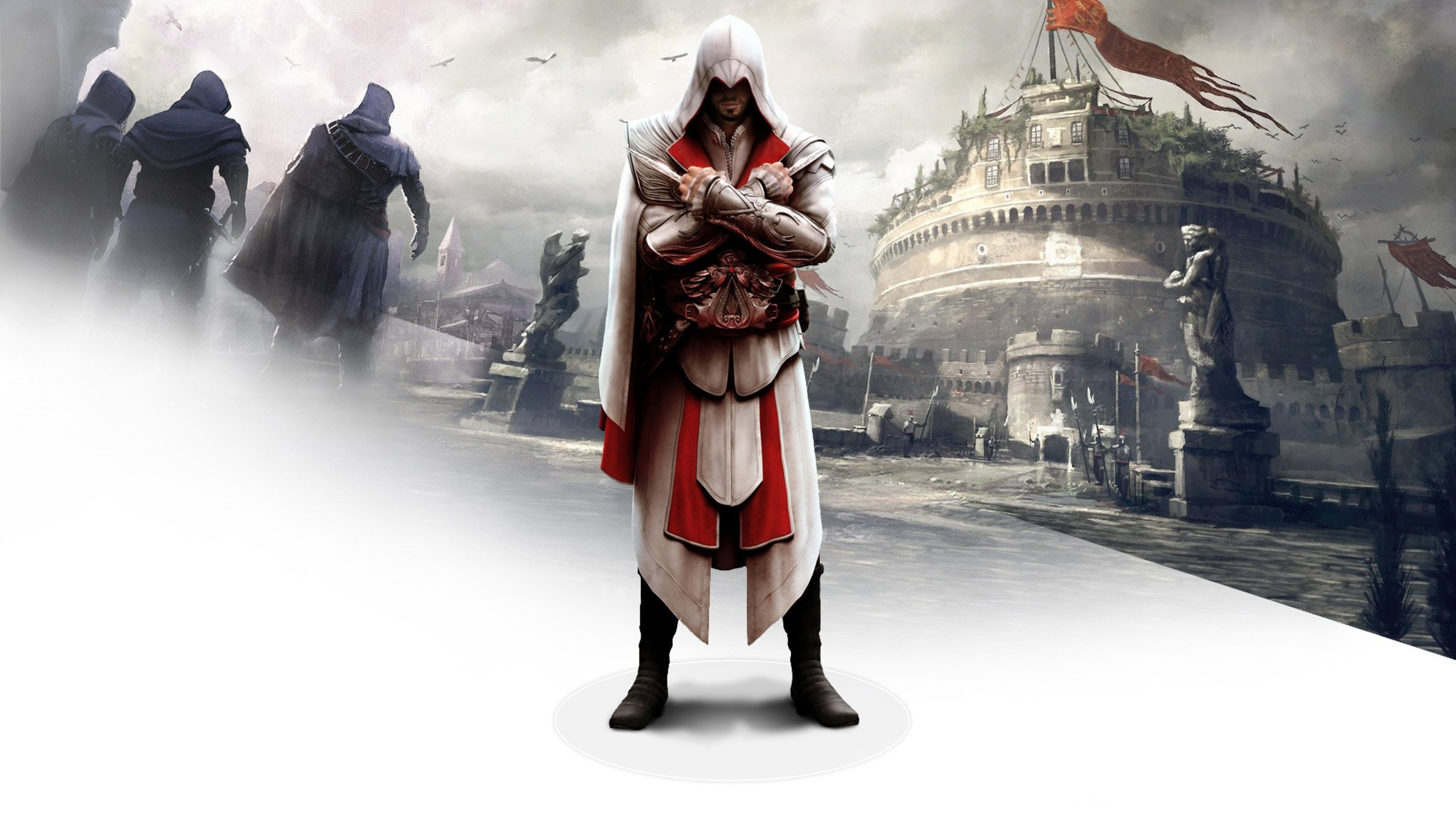 Ezio In Assassins Creed Brotherhood Hd Games 4k Wallpapers