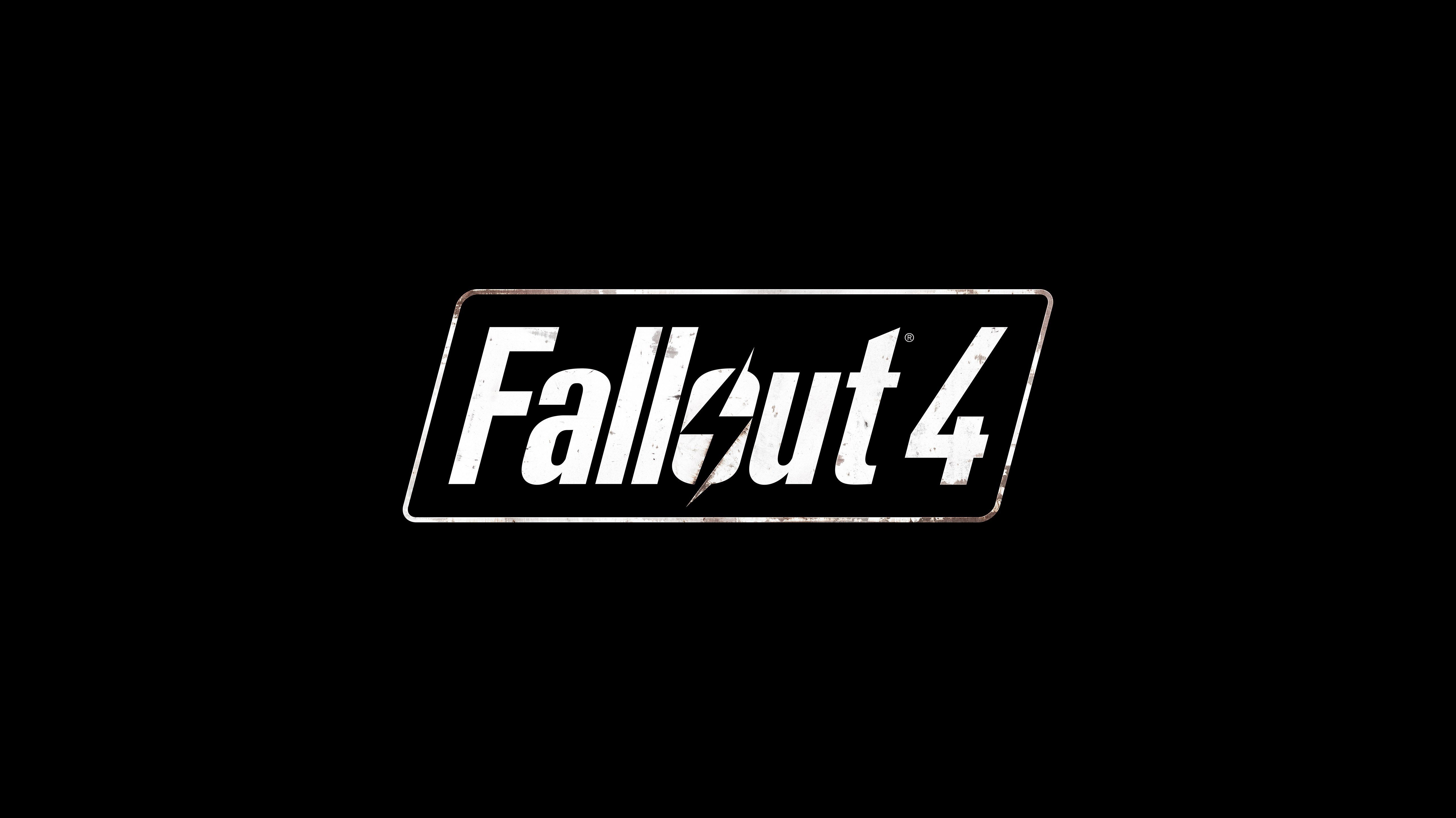 Fallout 4 Logo 5k Hd Games 4k Wallpapers Images