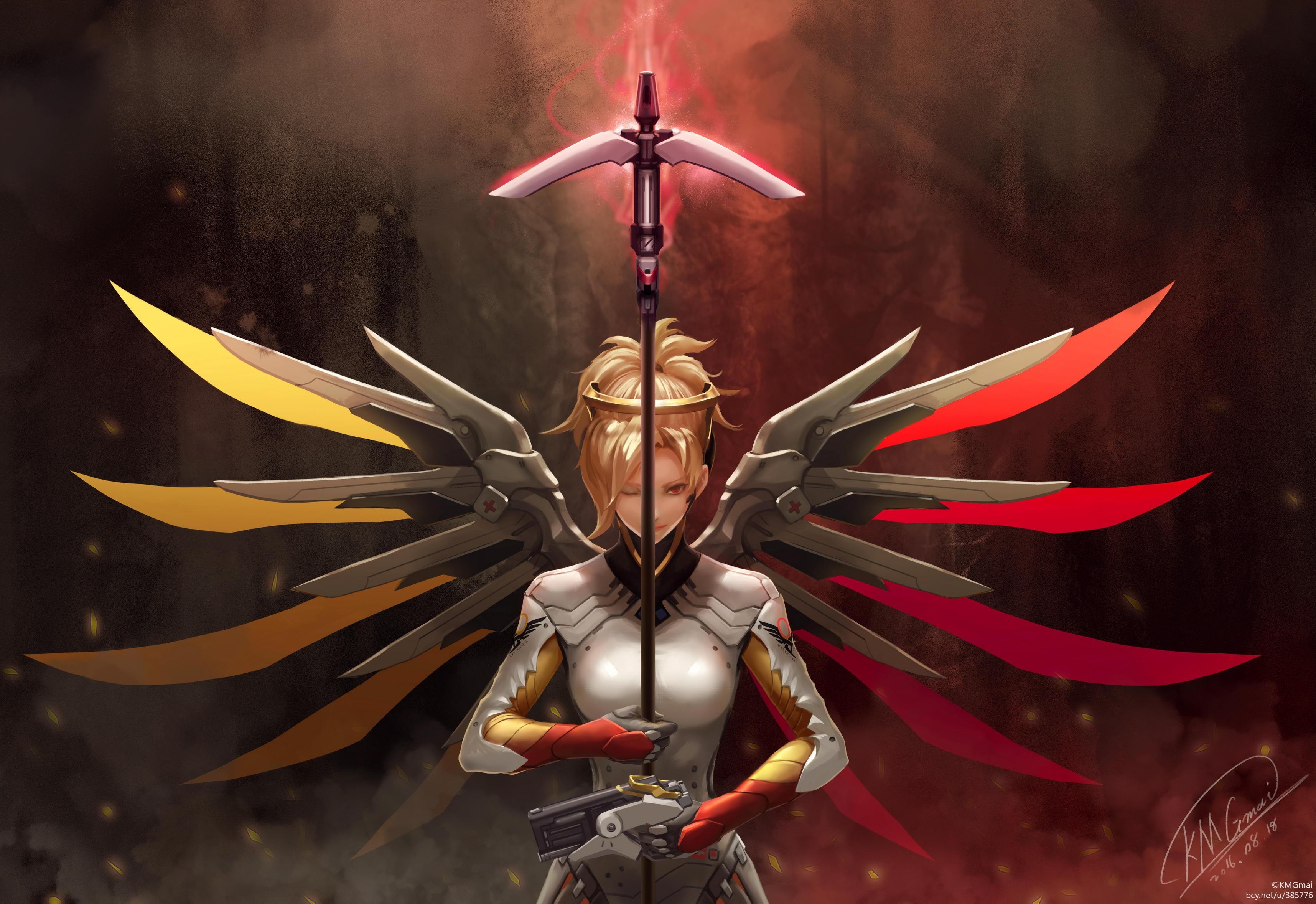 Fan Art Of Mercy Overwatch, HD Games, 4k Wallpapers ...