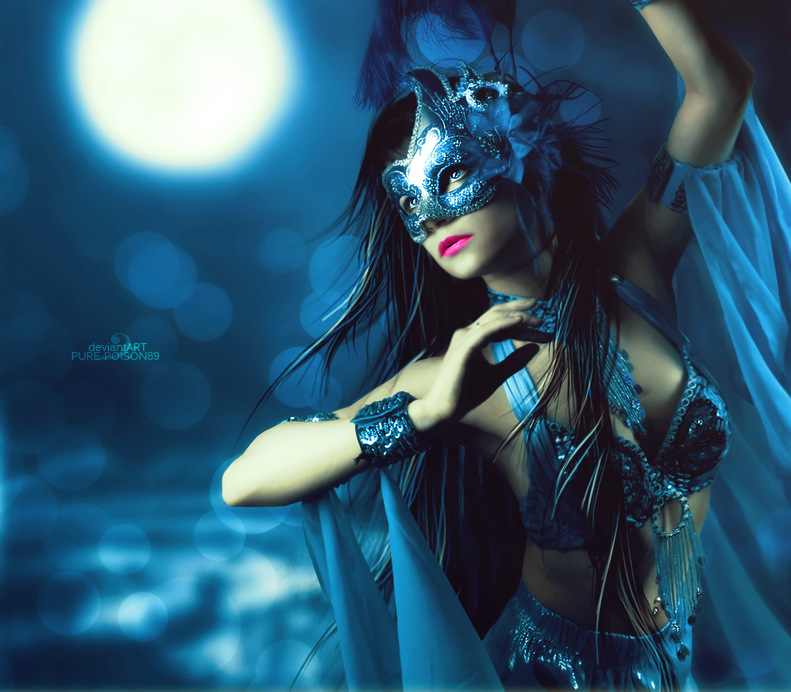Fantasy Mask Girl, HD Fantasy Girls, 4k Wallpapers, Images