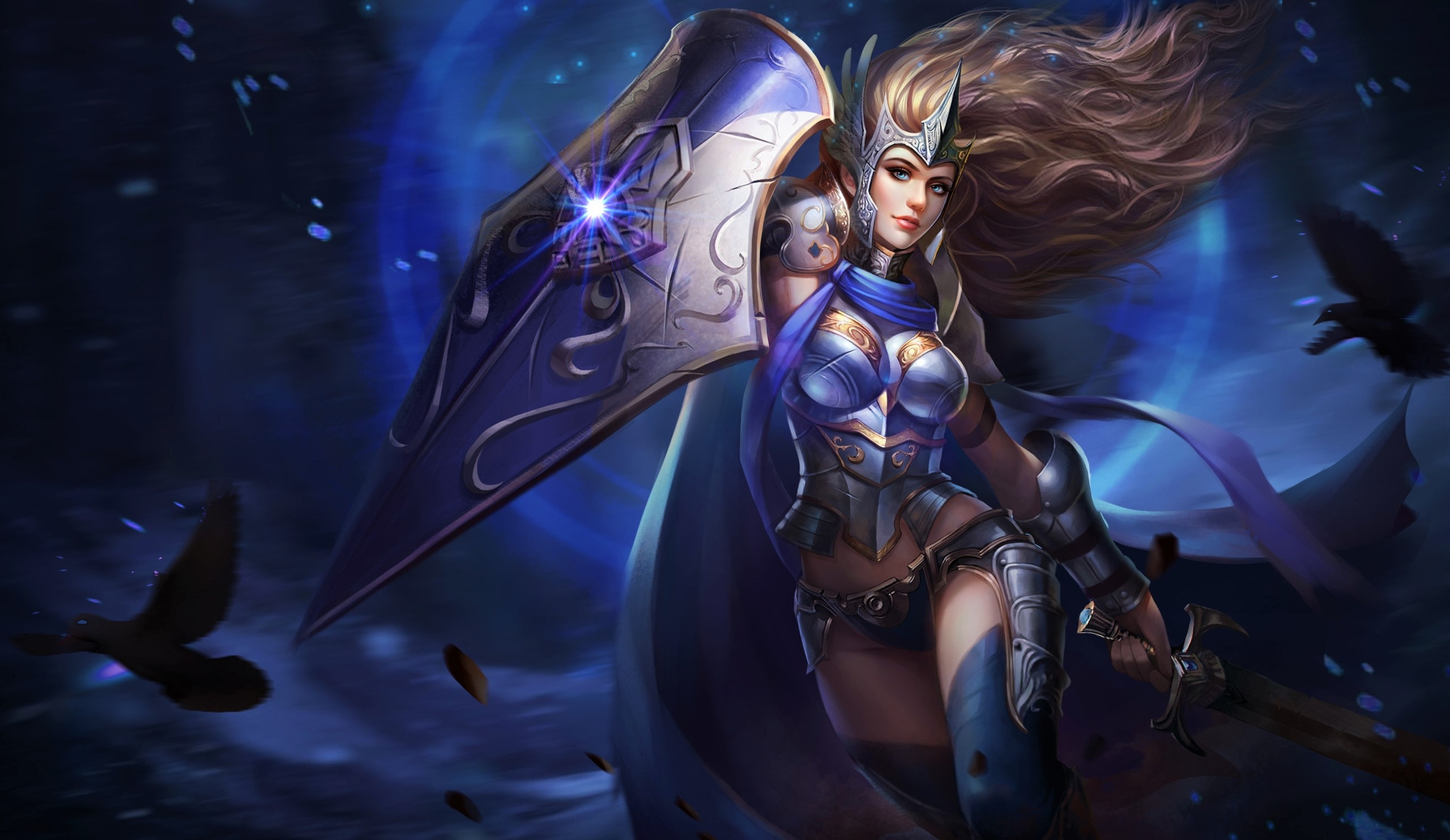 Fantasy Warrior Girl With Shield And Sword, HD Fantasy Girls, 4k Wallpapers, Images, Backgrounds ...