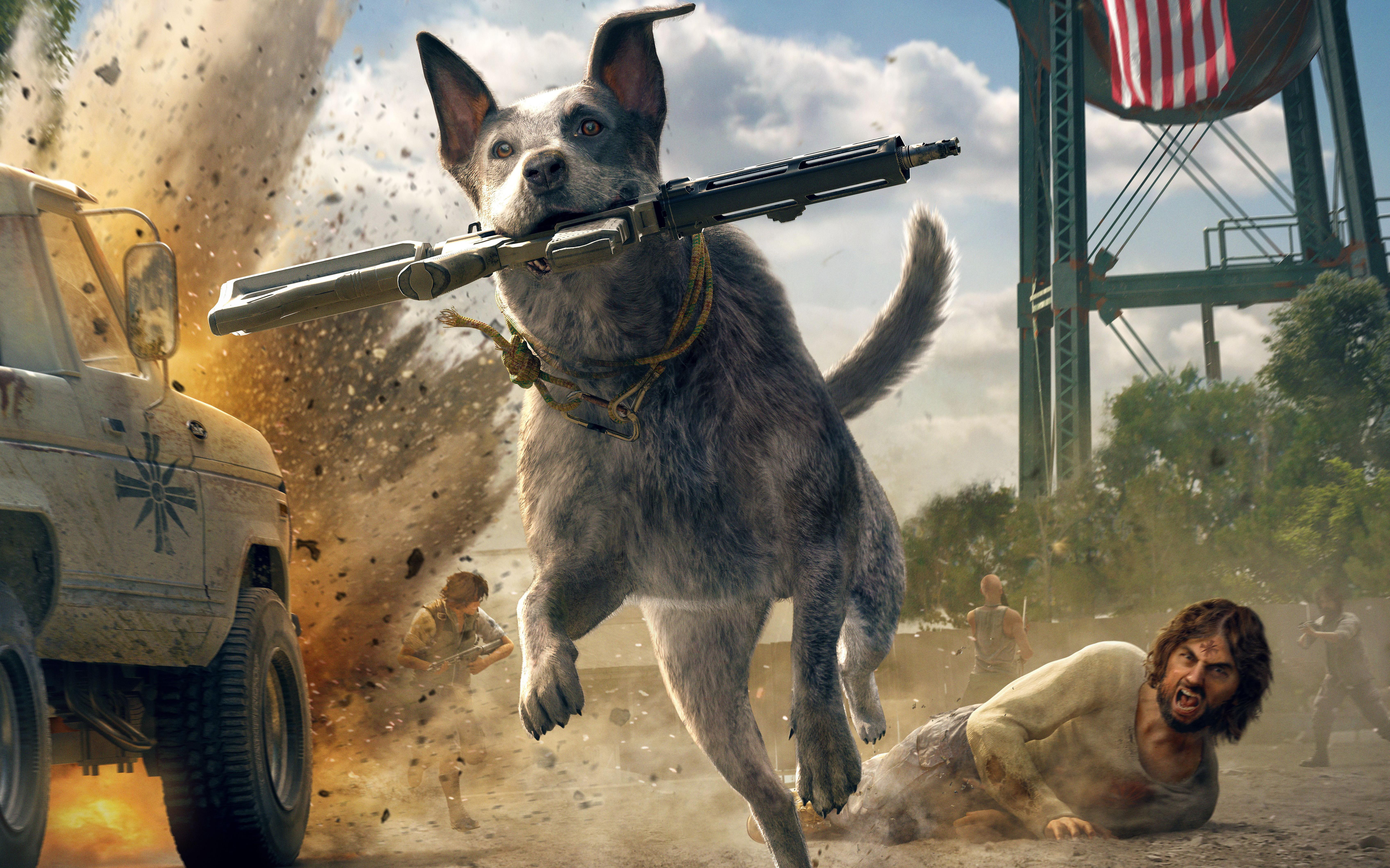 2560x1440 Far Cry 5 Australian Cattle Dog 5k 1440P
