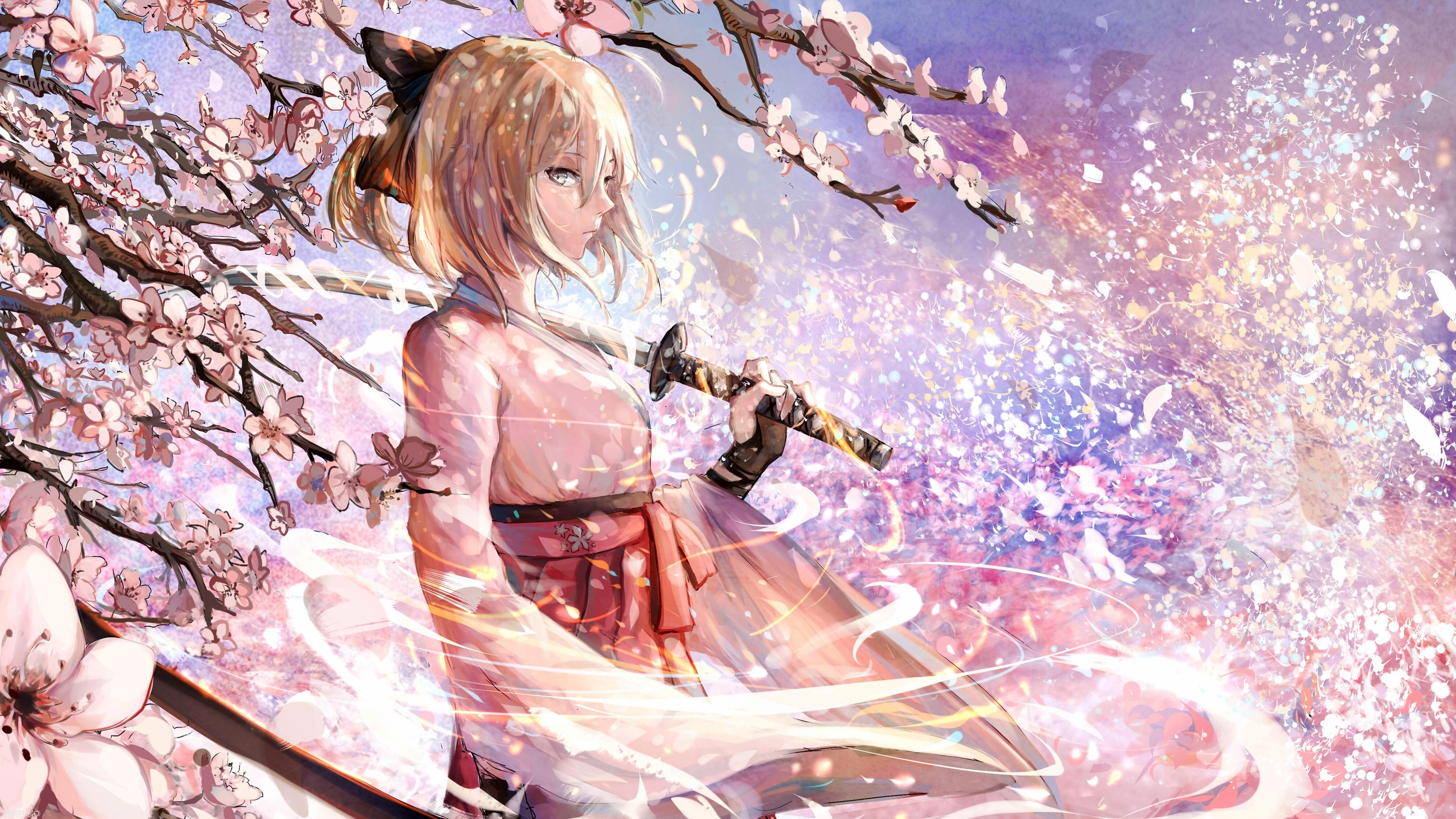 Anime girl with sword