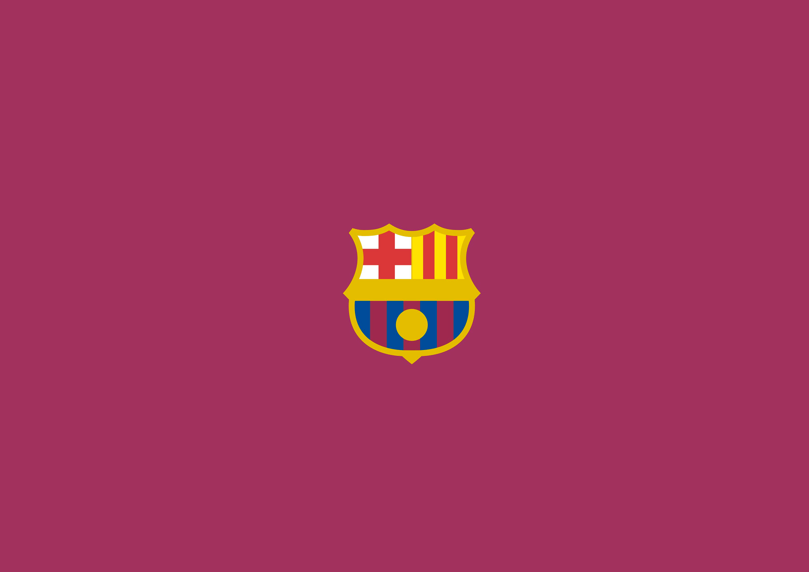 Fc Barcelona Logo Minimalism Hd Sports 4k Wallpapers Images