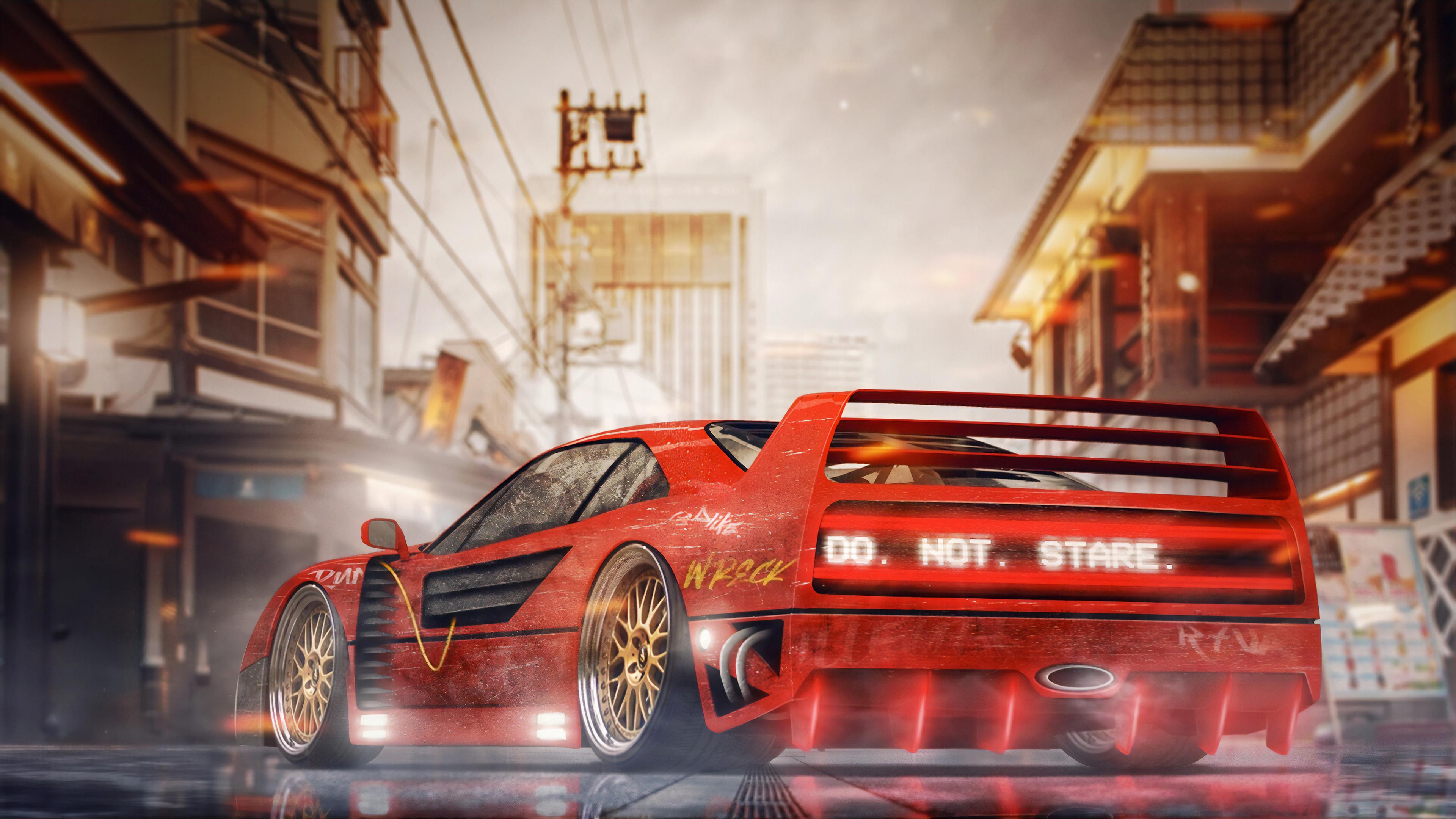 Ferrari F40 Digital Art 4k, HD Cars, 4k Wallpapers, Images
