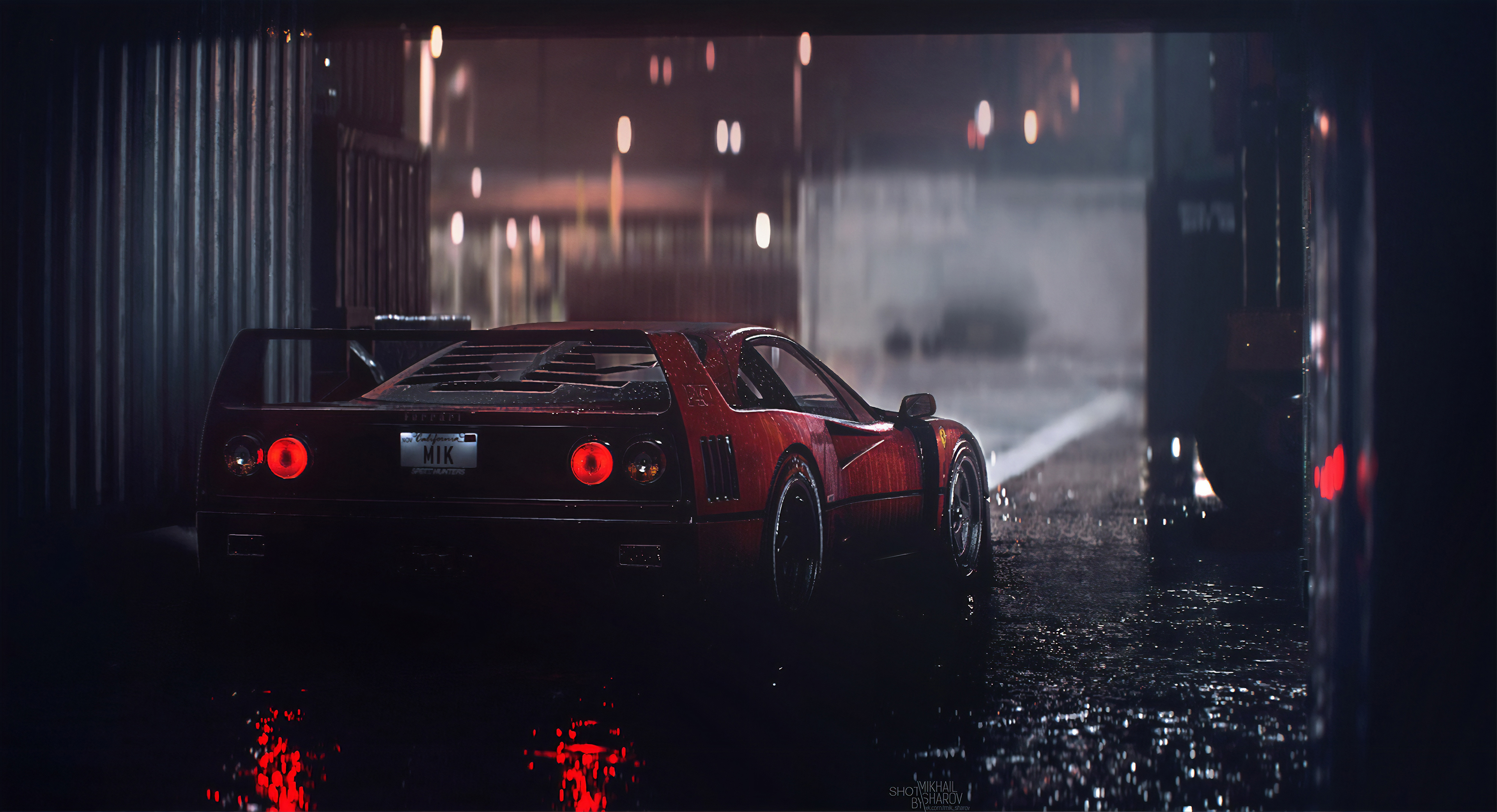 Ferrari F40 Rain 4k, HD Games, 4k Wallpapers, Images
