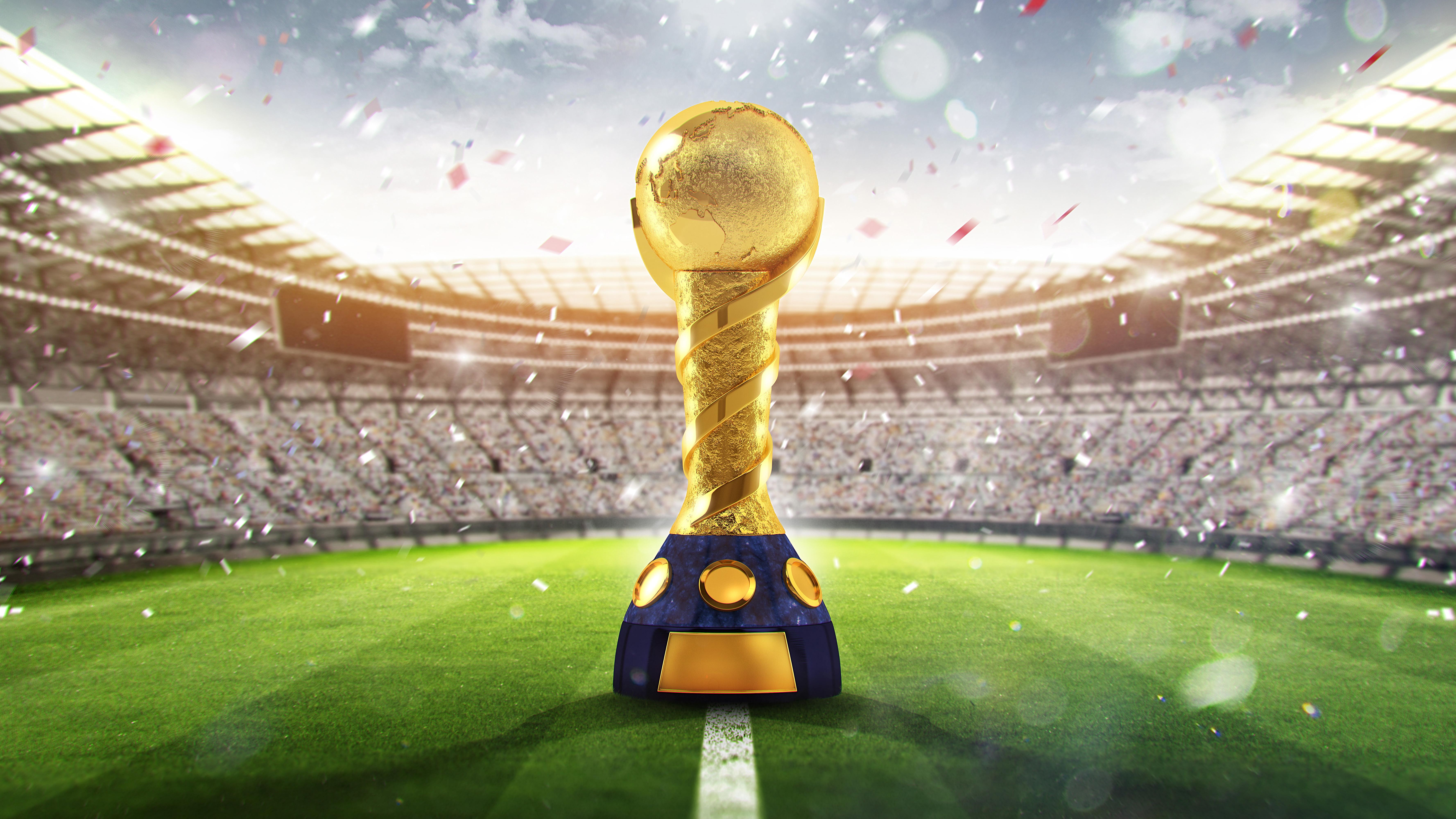 FIFA World Cup Russia 2018 Trophy, HD Sports, 4k