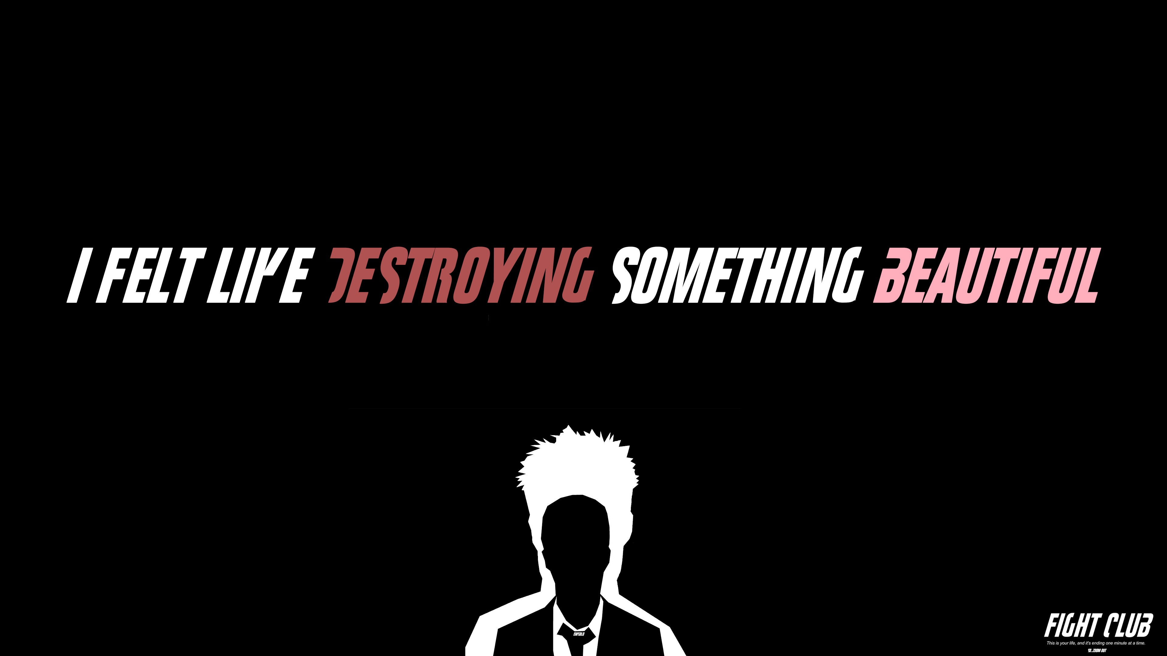Fight Club Typography Hd Typography 4k Wallpapers Images