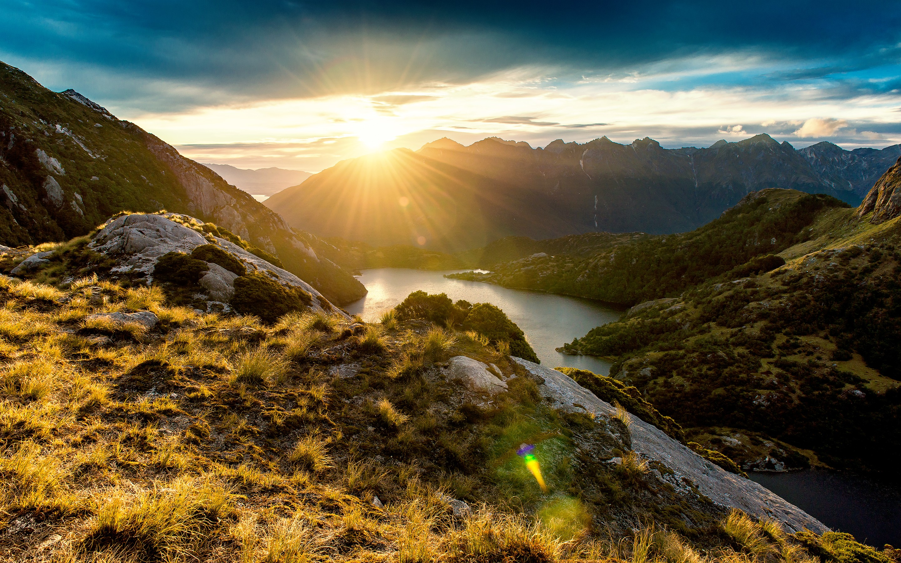 Fiordland Mountain Sunrise, HD Nature, 4k Wallpapers ...