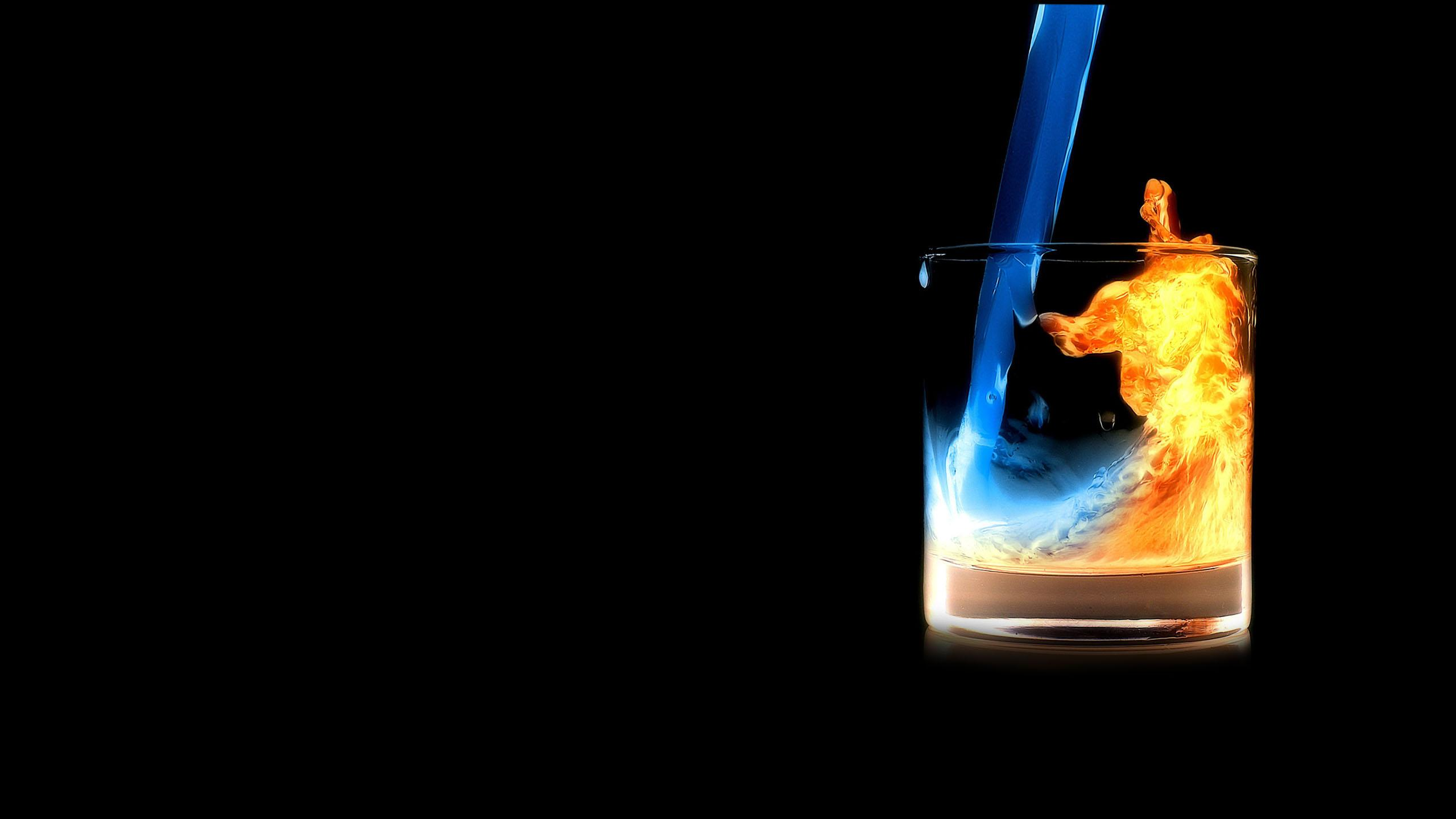 Fire Water In Glass