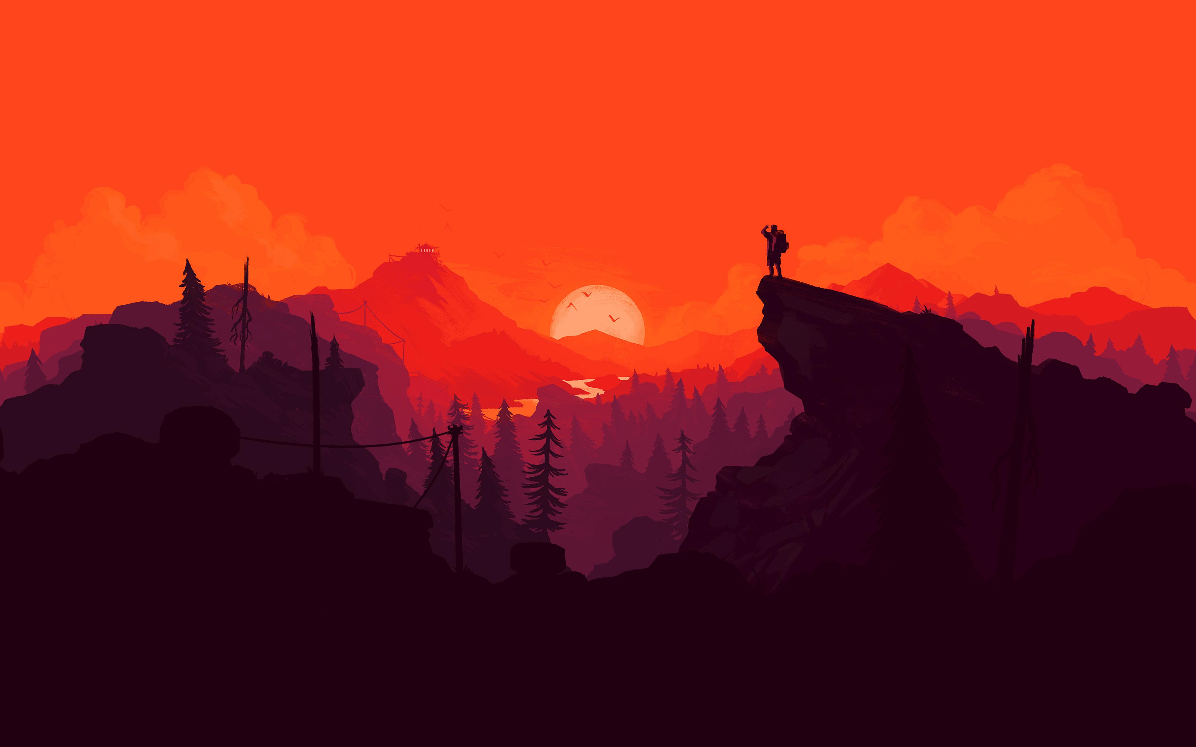 Firewatch Digital Art 4k, HD Games, 4k Wallpapers, Images ...