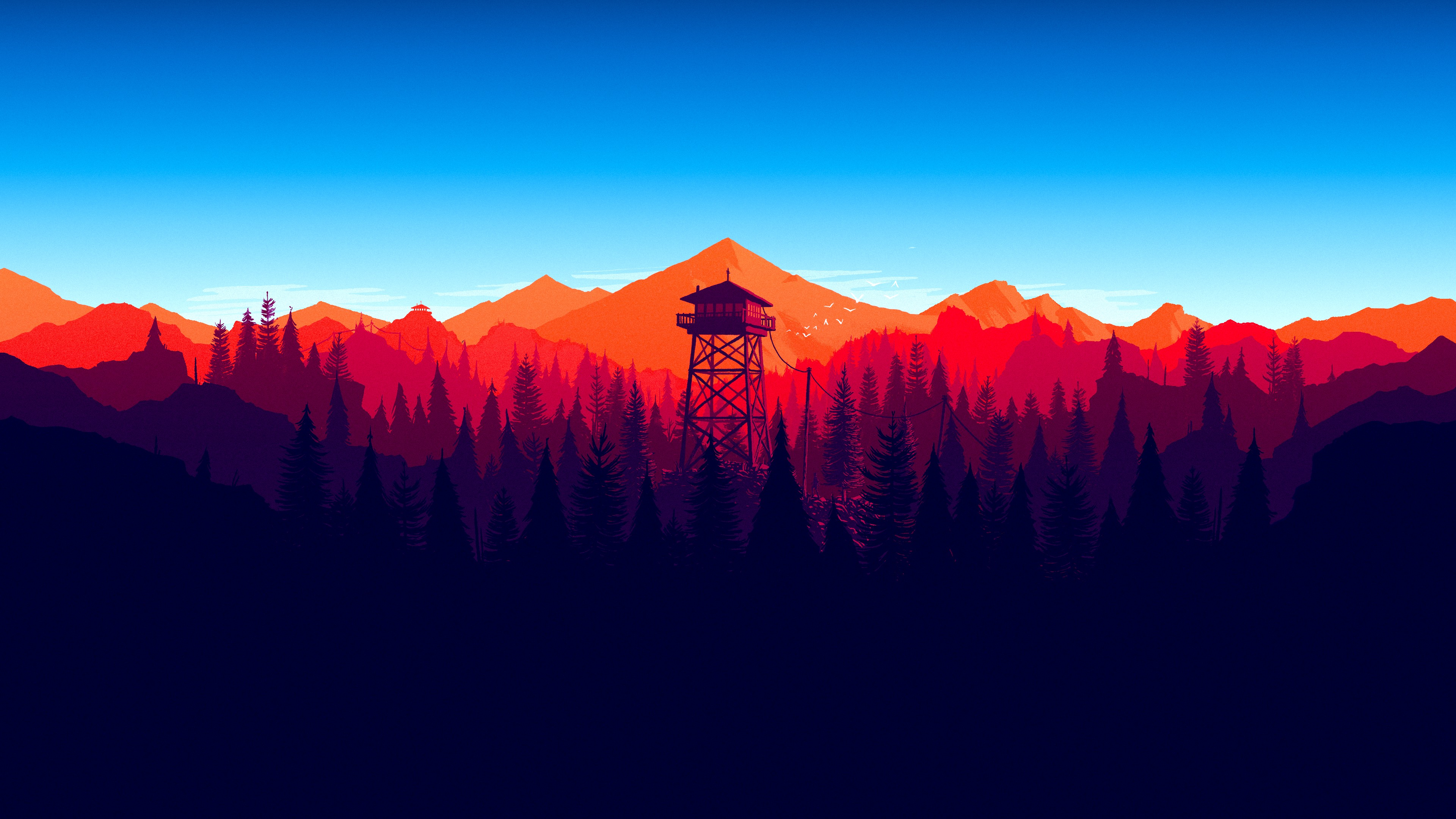 Firewatch Forest Mountains Minimalism 4k Hd Games 4k