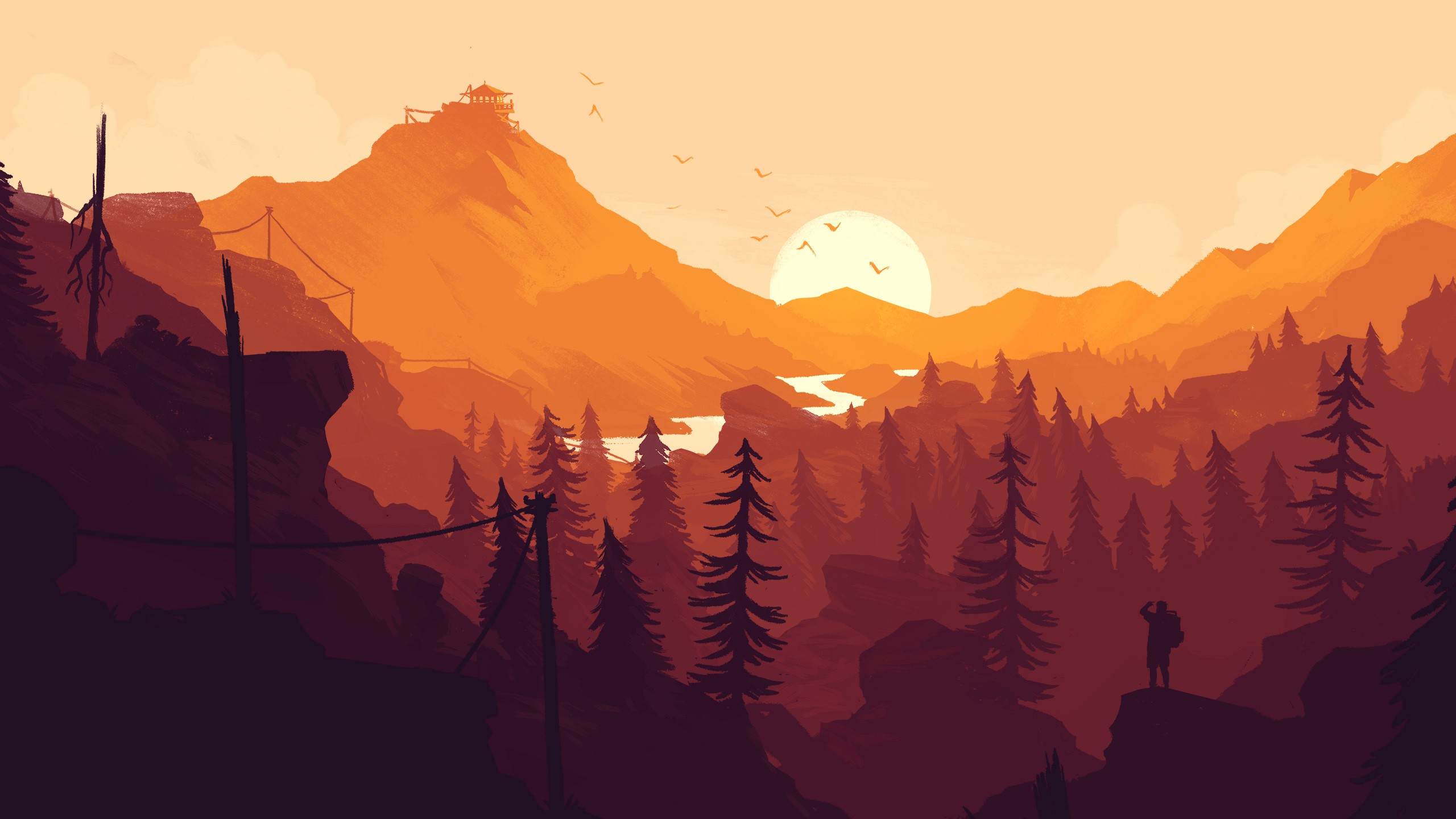 1280x720 firewatch game 720p hd 4k wallpapers images backgrounds photos and pictures - 1366x768 is 720p or 1080p ...
