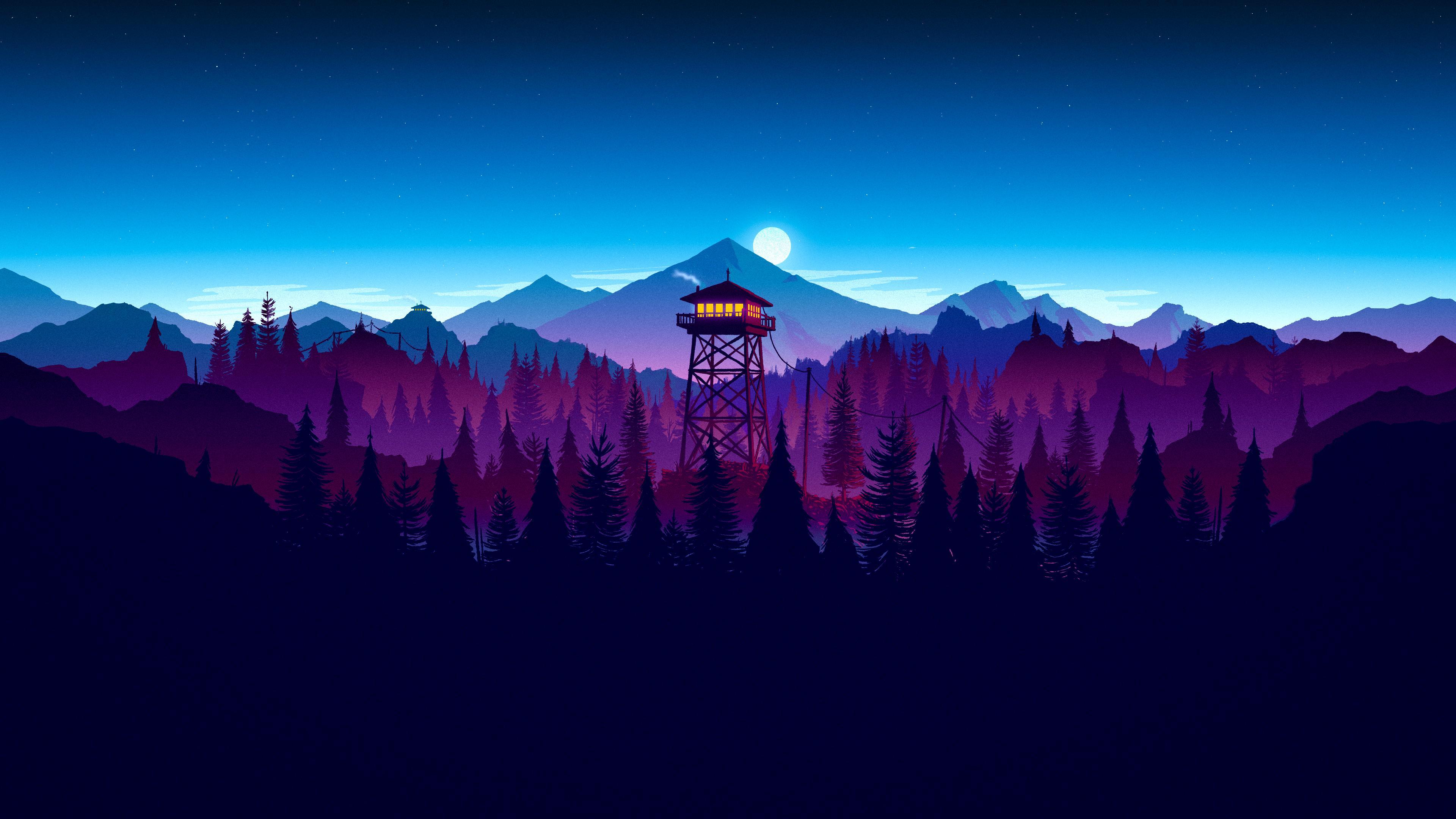 Firewatch Sunset Artwork, HD Artist, 4k Wallpapers, Images ...