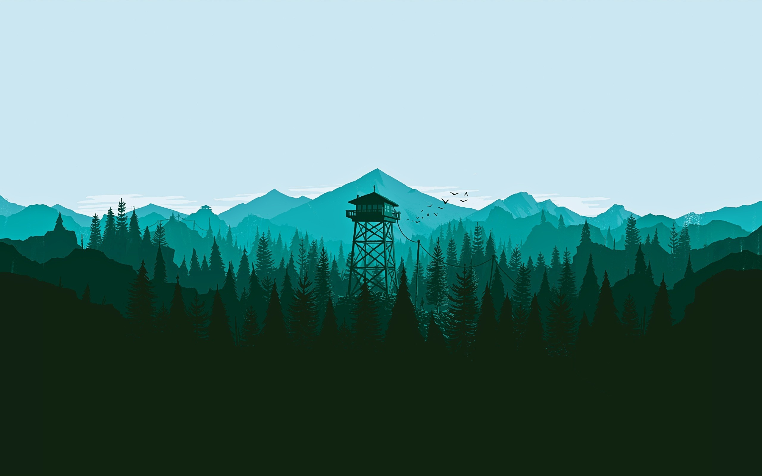 Firewatch Trees
