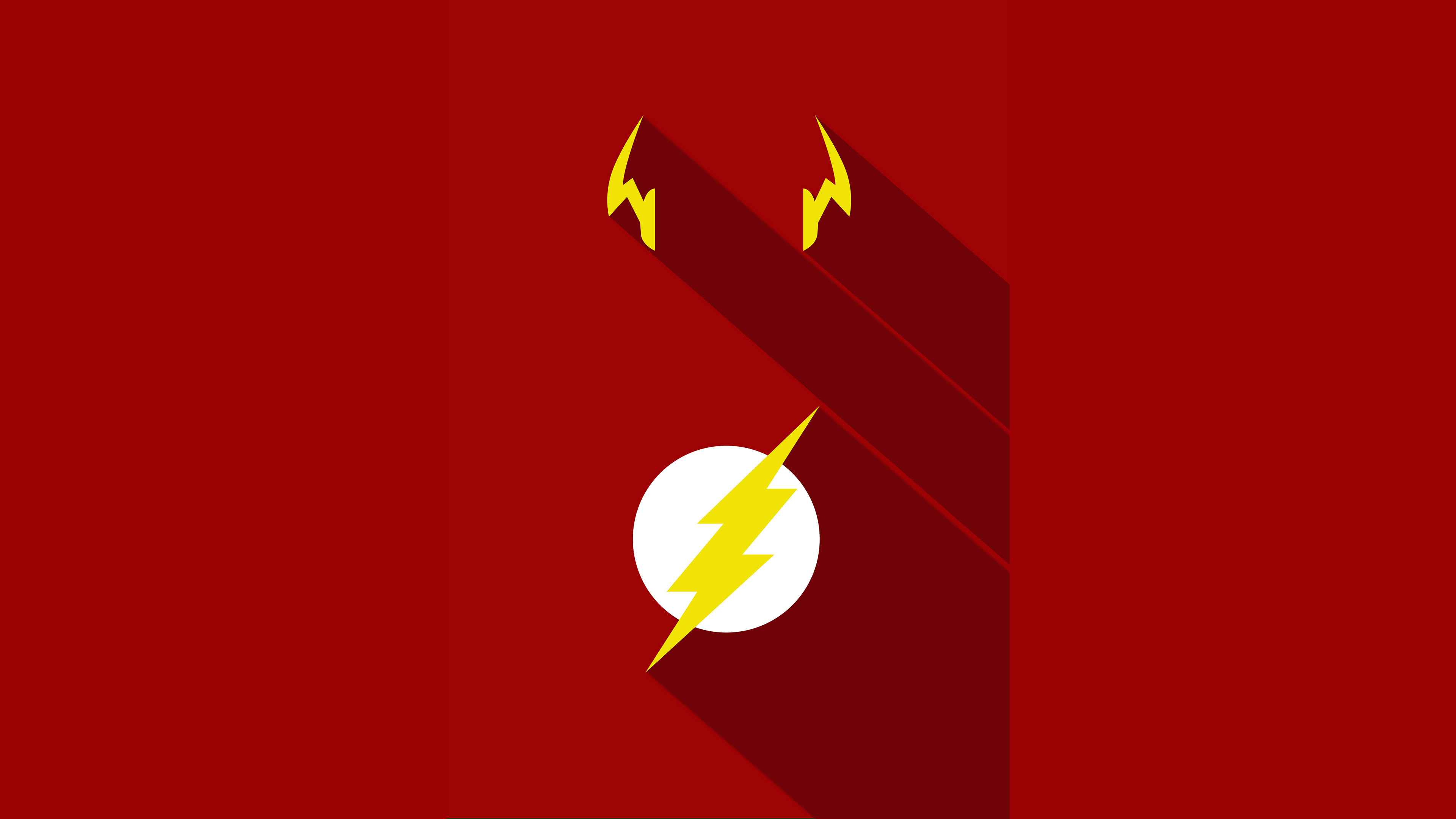 flash minimalism poster hd superheroes 4k wallpapers