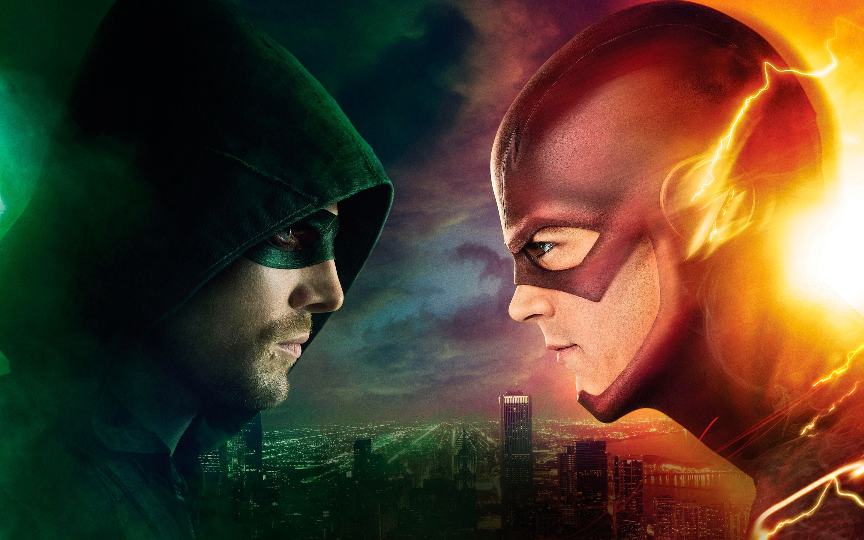 Flash vs arrow hd tv shows 4k wallpapers images - Tv series wallpaper 4k ...